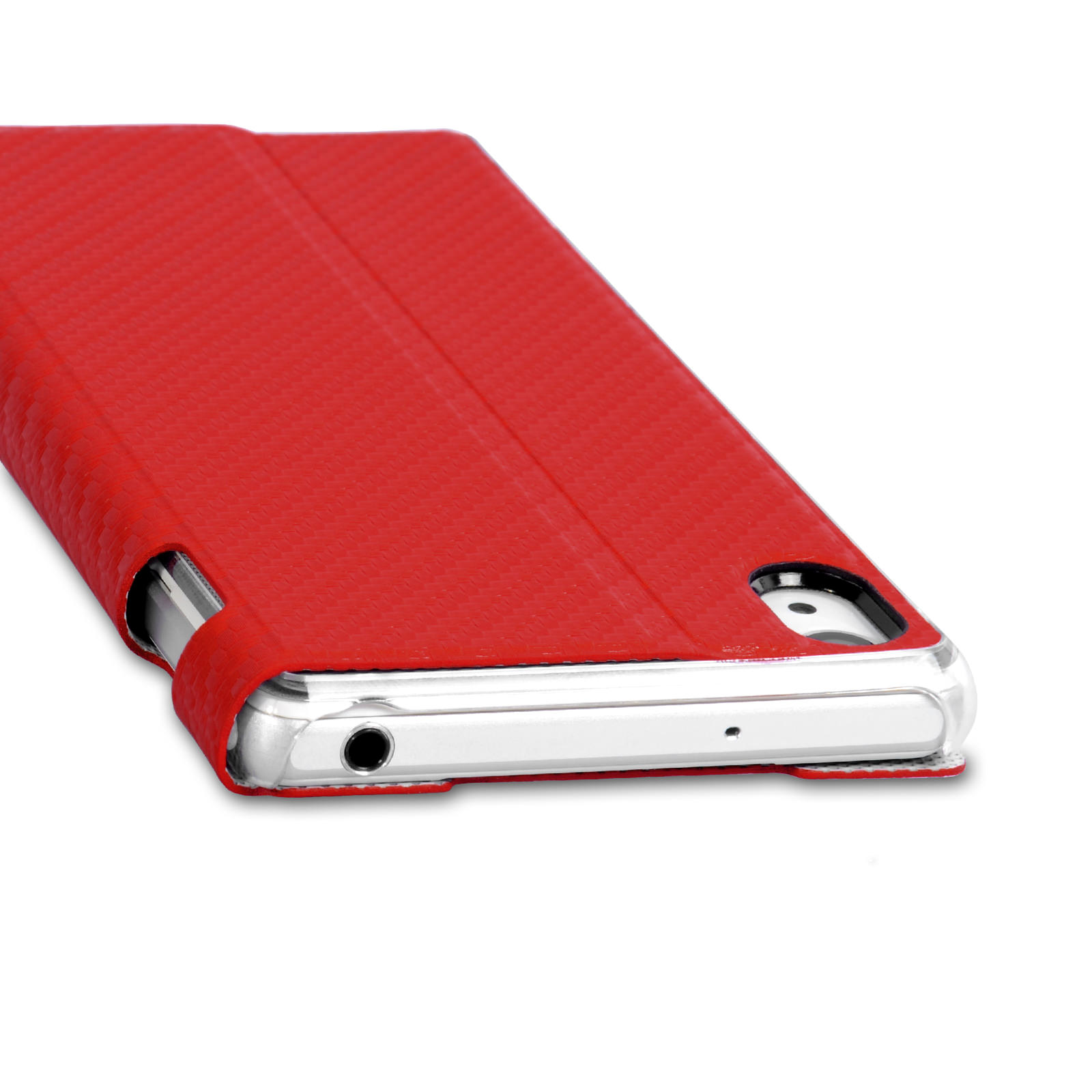 Roxfit Standing Book Case for Sony Xperia Z2 - Carbon Red