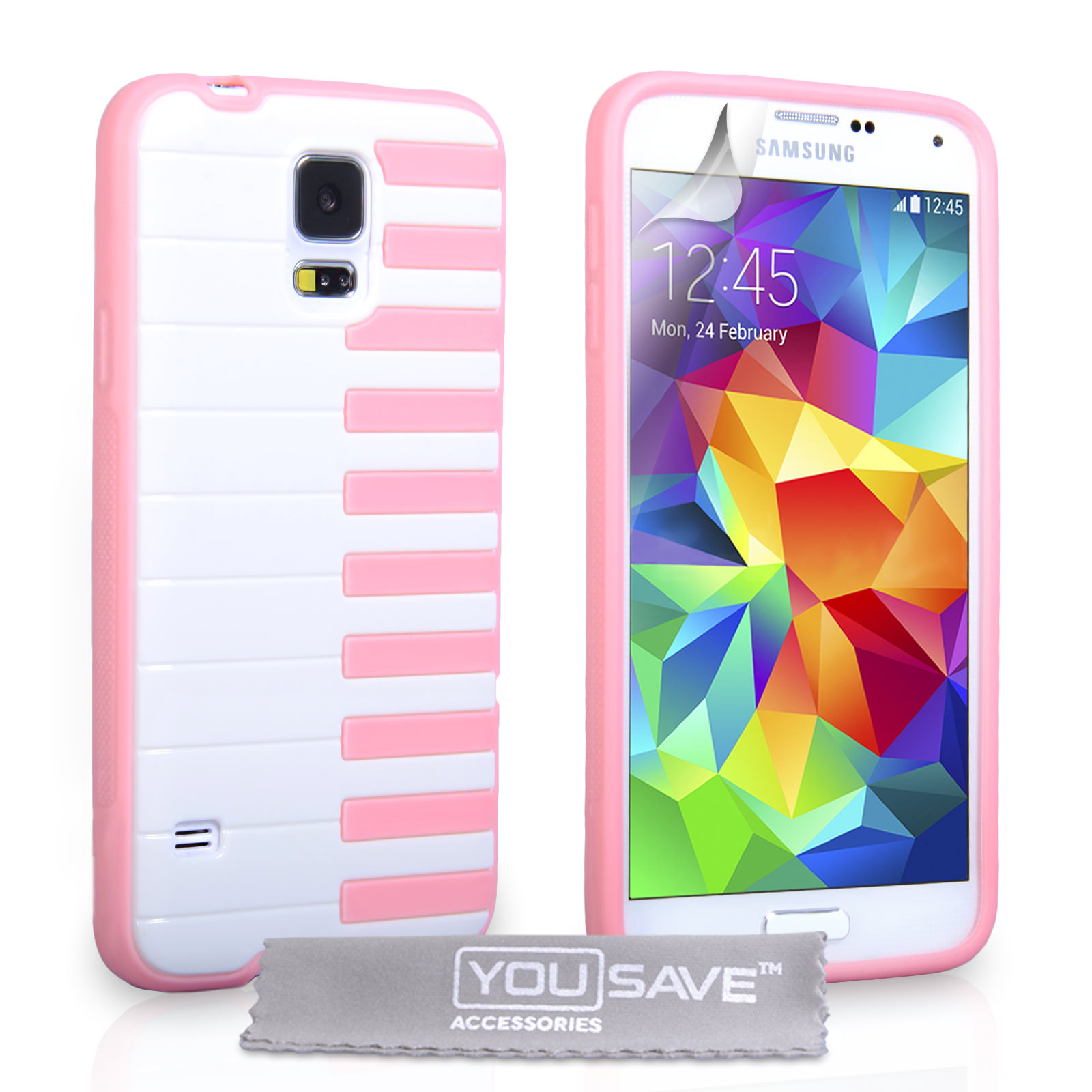 YouSave Accessories Samsung Galaxy S5 Piano Gel Case  - Pink