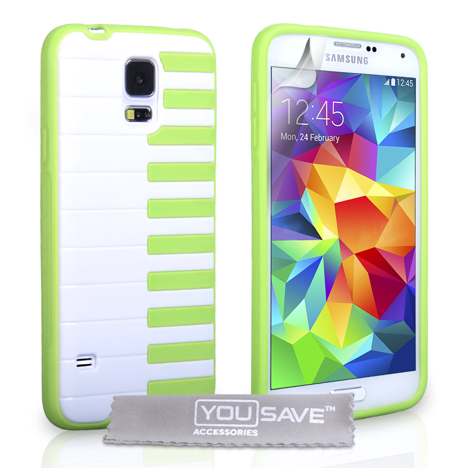 YouSave Accessories Samsung Galaxy S5 Piano Gel Case  - Green