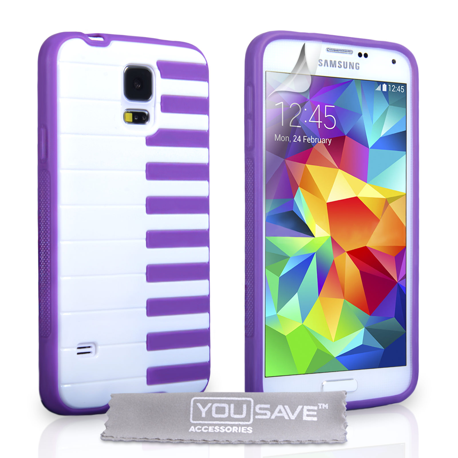 YouSave Accessories Samsung Galaxy S5 Piano Gel Case - Purple