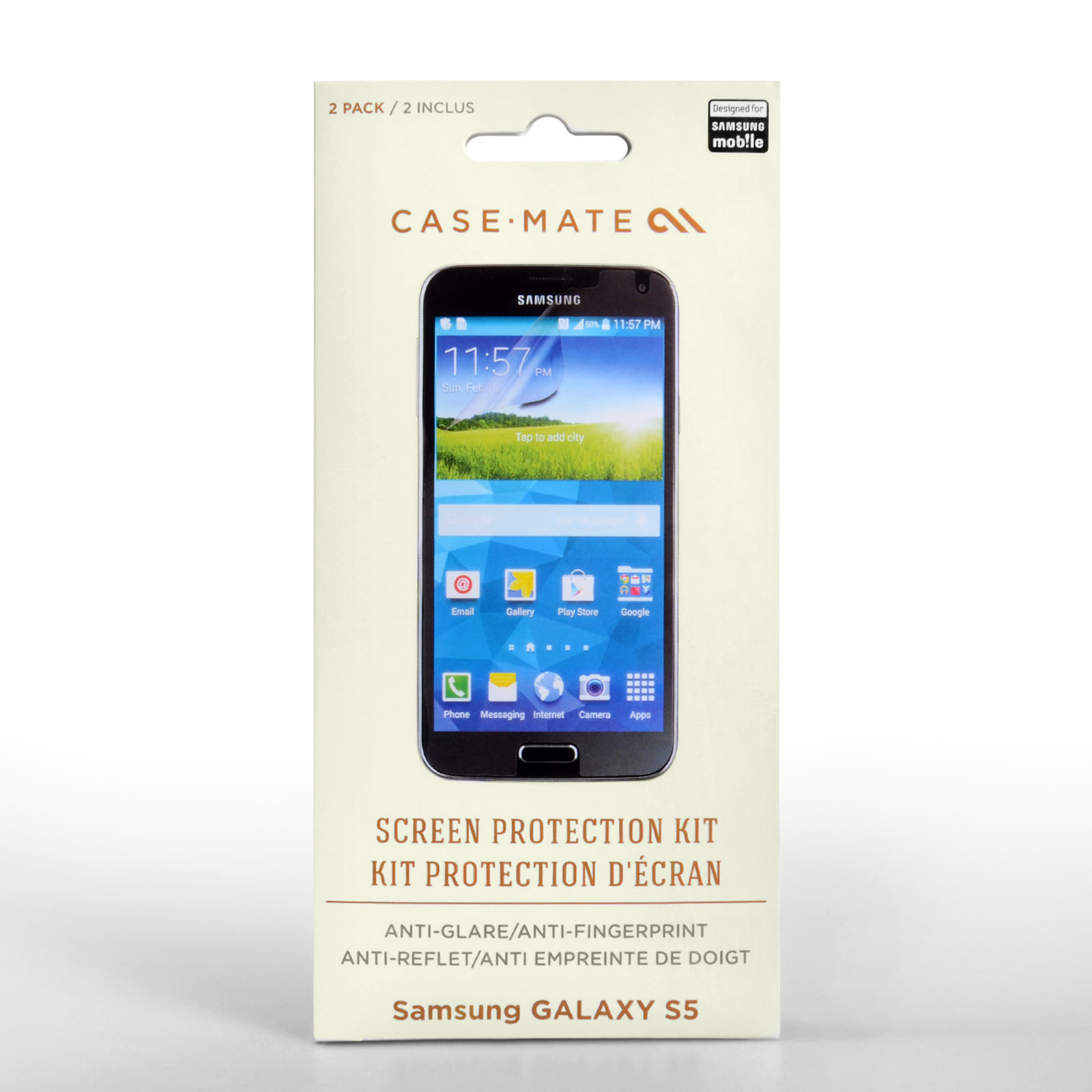 Case Mate Samsung Galaxy S5 Screen Protectors - 2 Pack