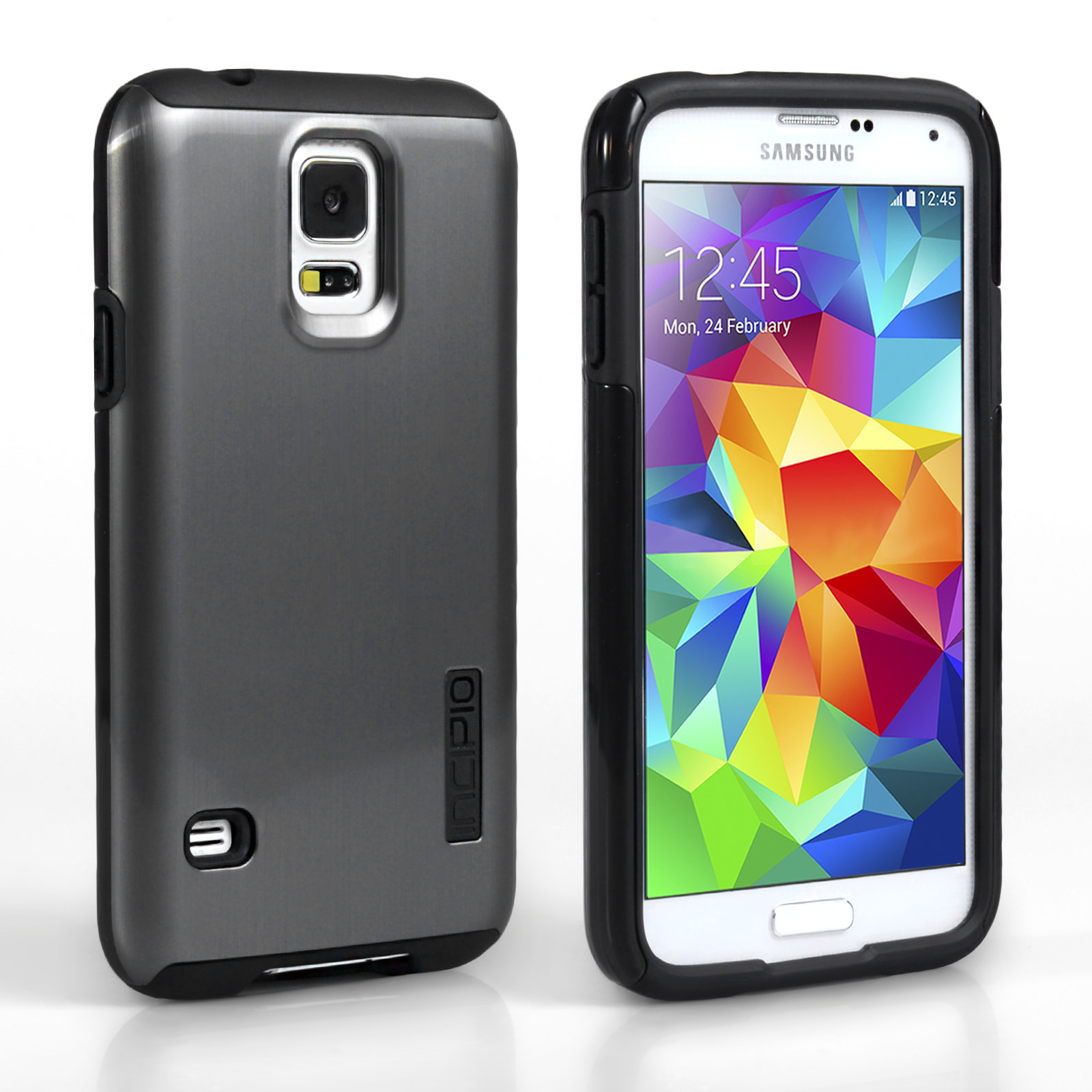 Incipio DualPro Shine for Samsung Galaxy S5 - Silver/Black