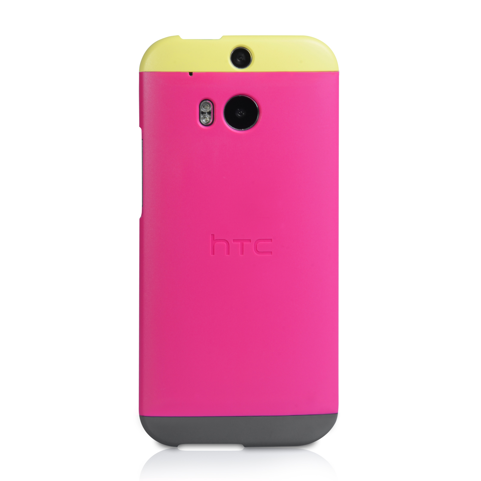 Official HTC One M8 Double Dip Hard Shell Case - Pink / Yellow
