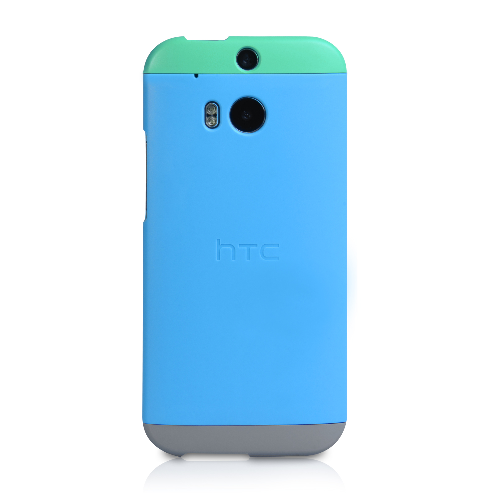 Official HTC One M8 Double Dip Hard Shell Case - Green / Blue