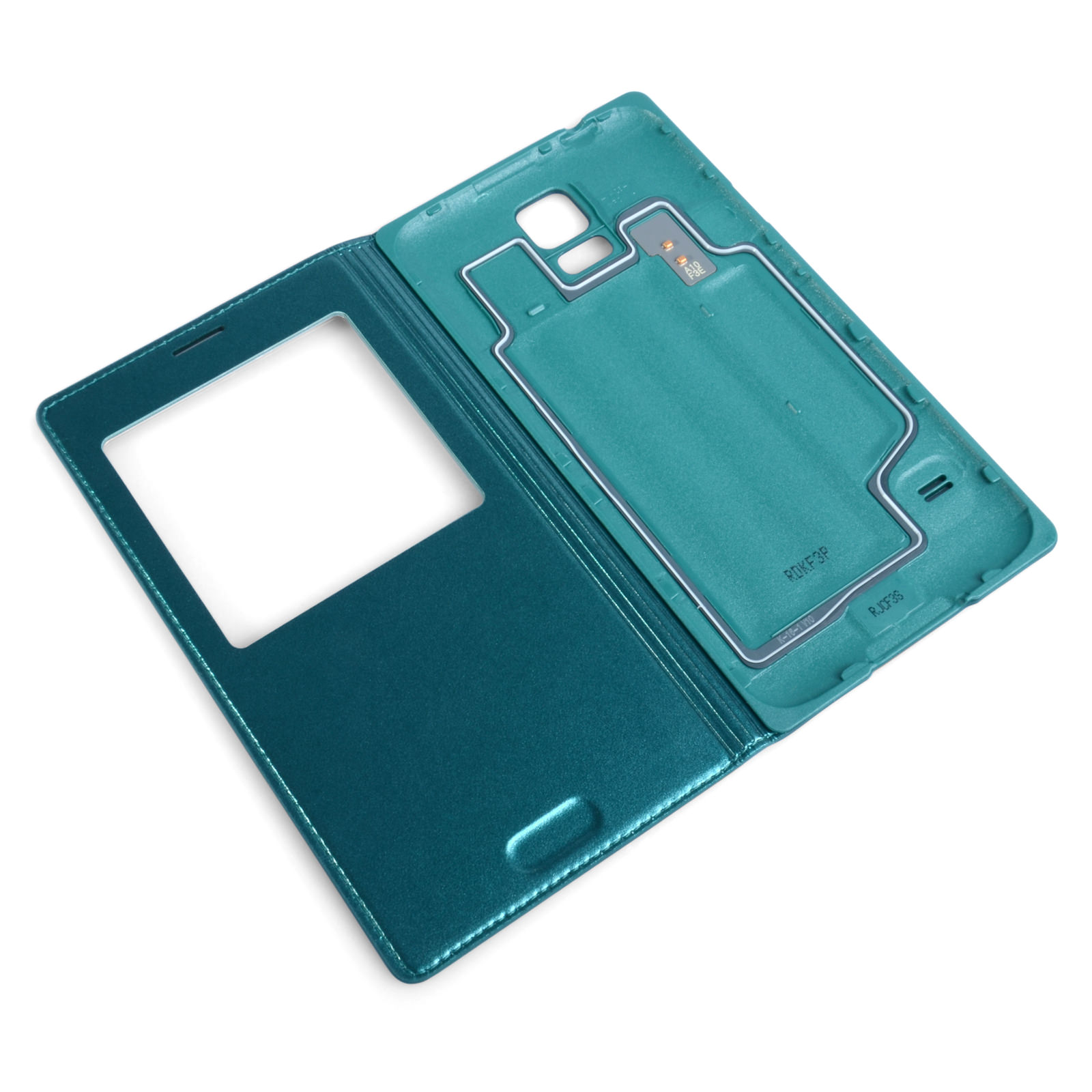 Official Samsung Galaxy S5 S View Cover - Blue Topaz