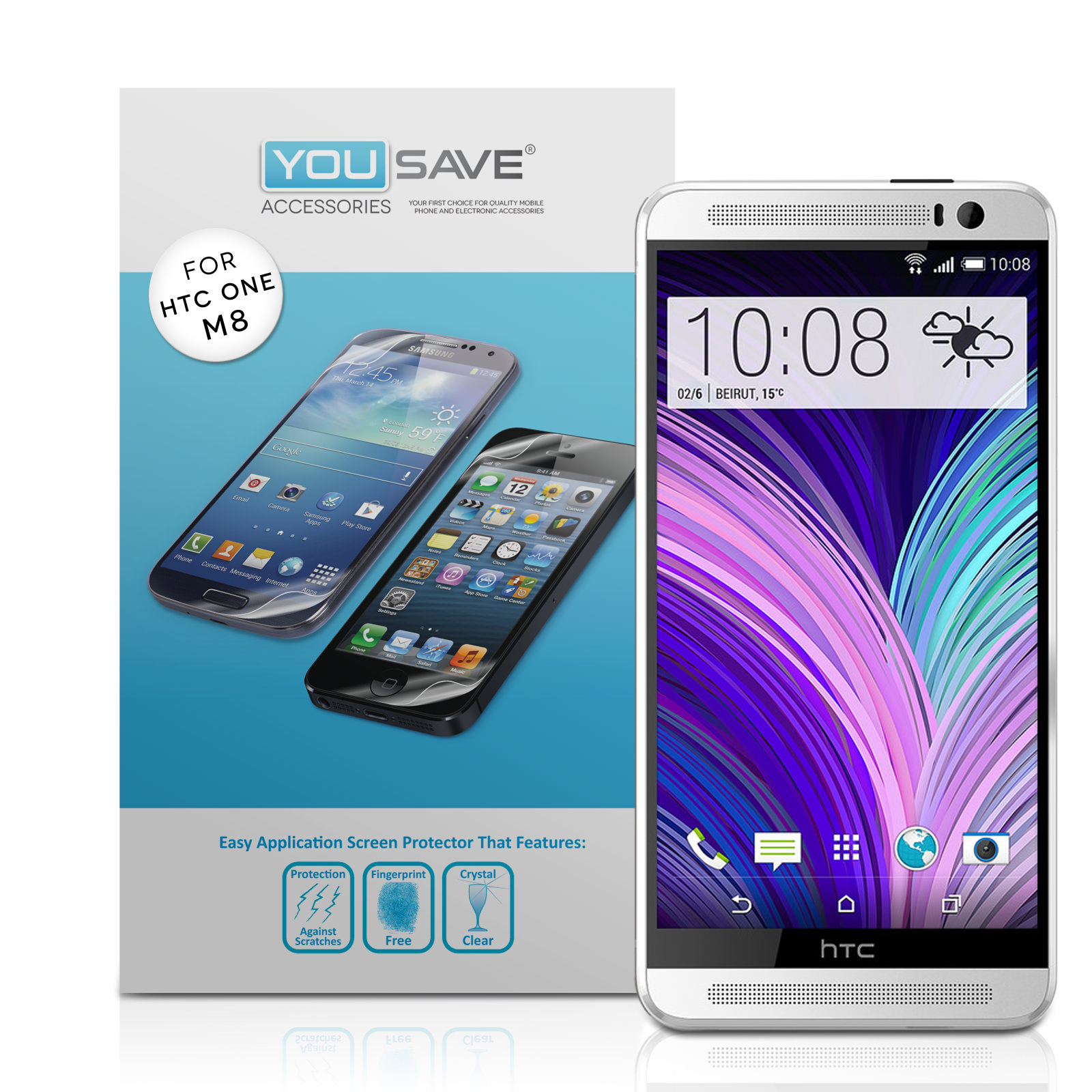 YouSave Accessories HTC One M8 Screen Protectors x3