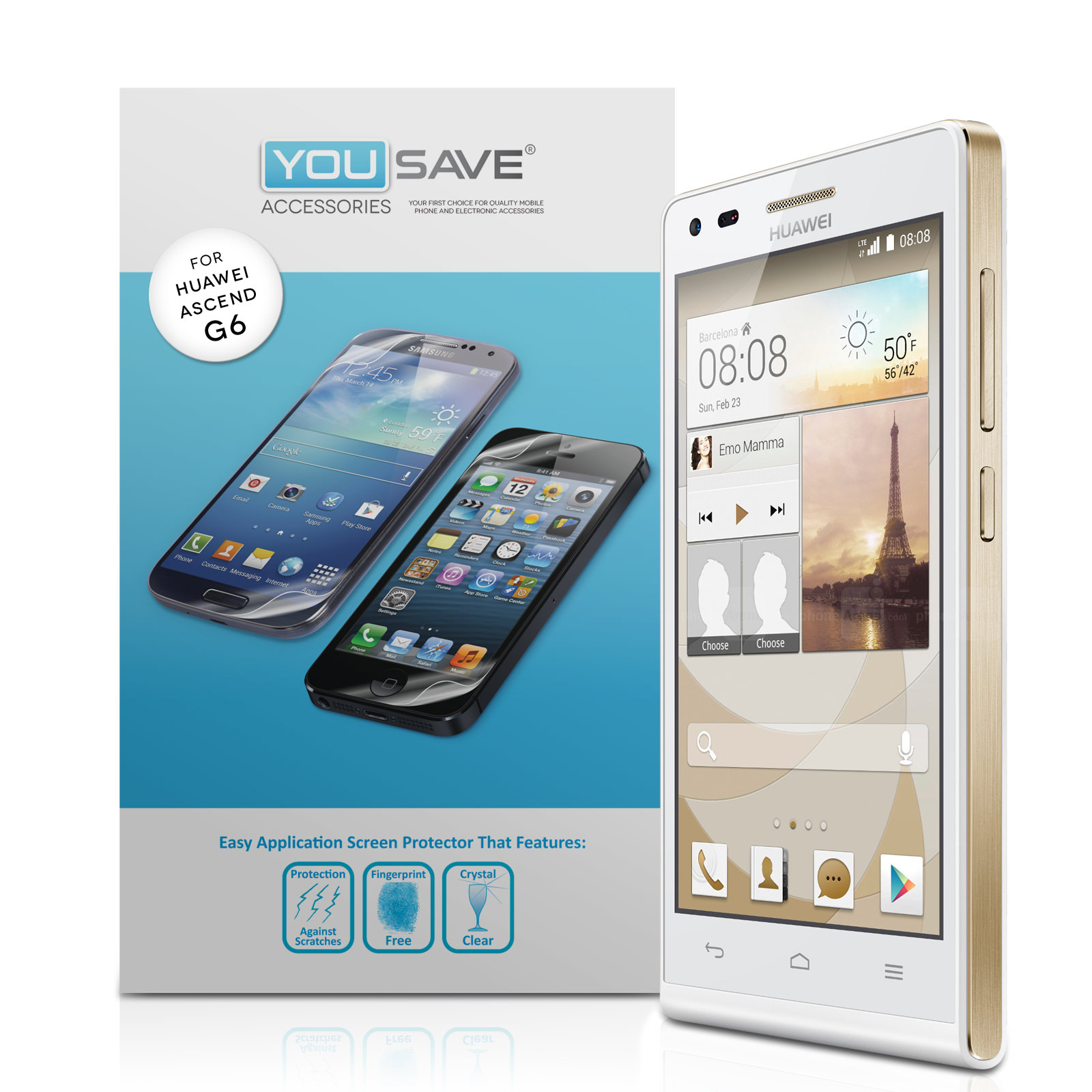 YouSave Accessories Huawei Ascend G6 Screen Protectors x3