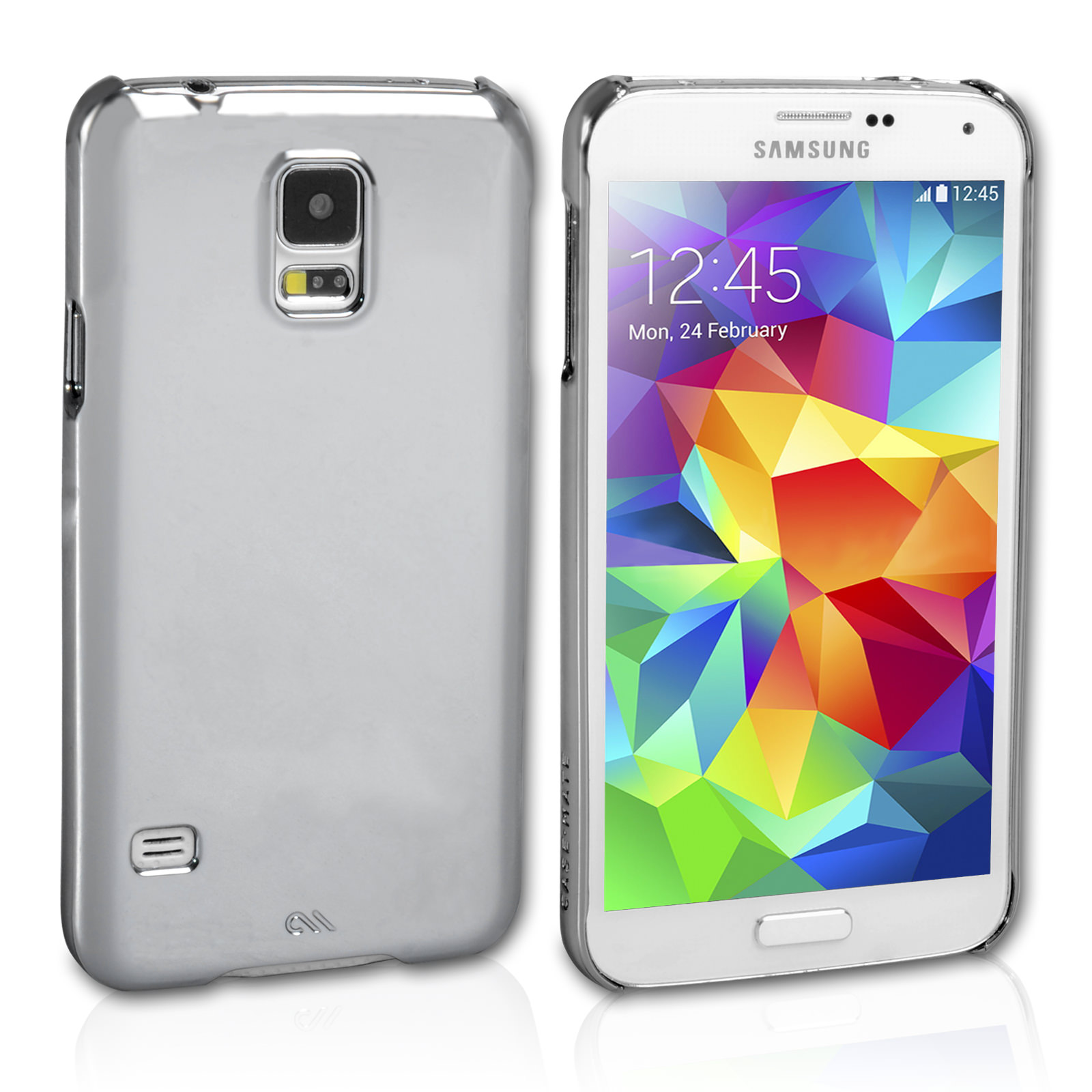 Case Mate Samsung Galaxy S5 Barely There - Silver
