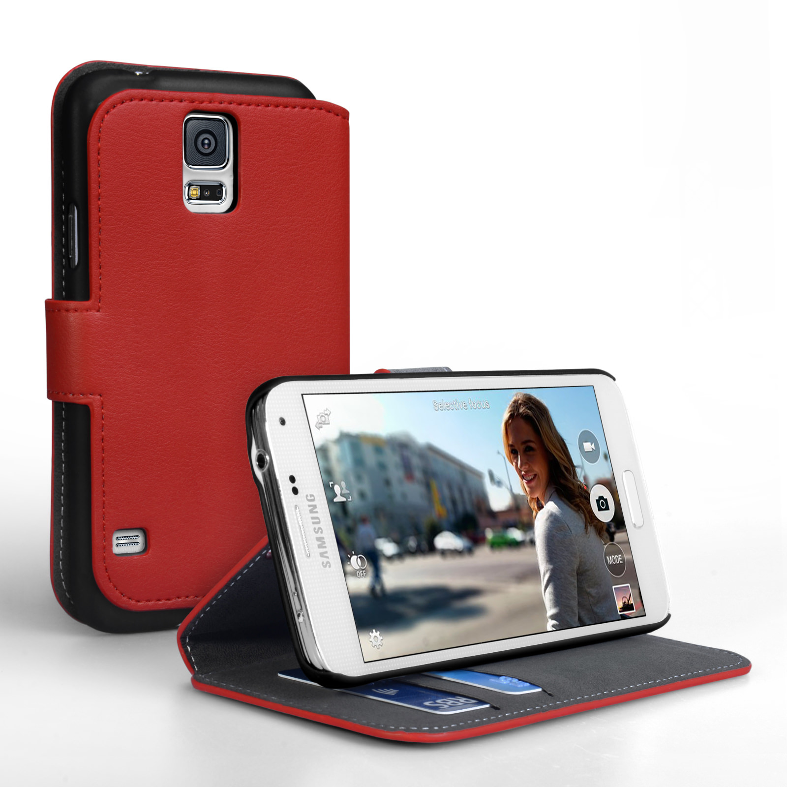 YouSave Accessories Samsung Galaxy S5 PU Wallet Stand Case – Red