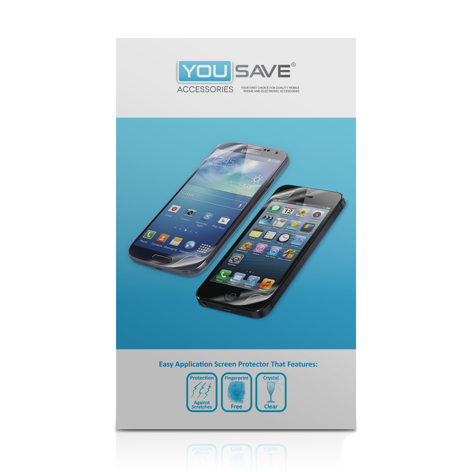 YouSave Accessories HTC One Mini Screen Protectors x3
