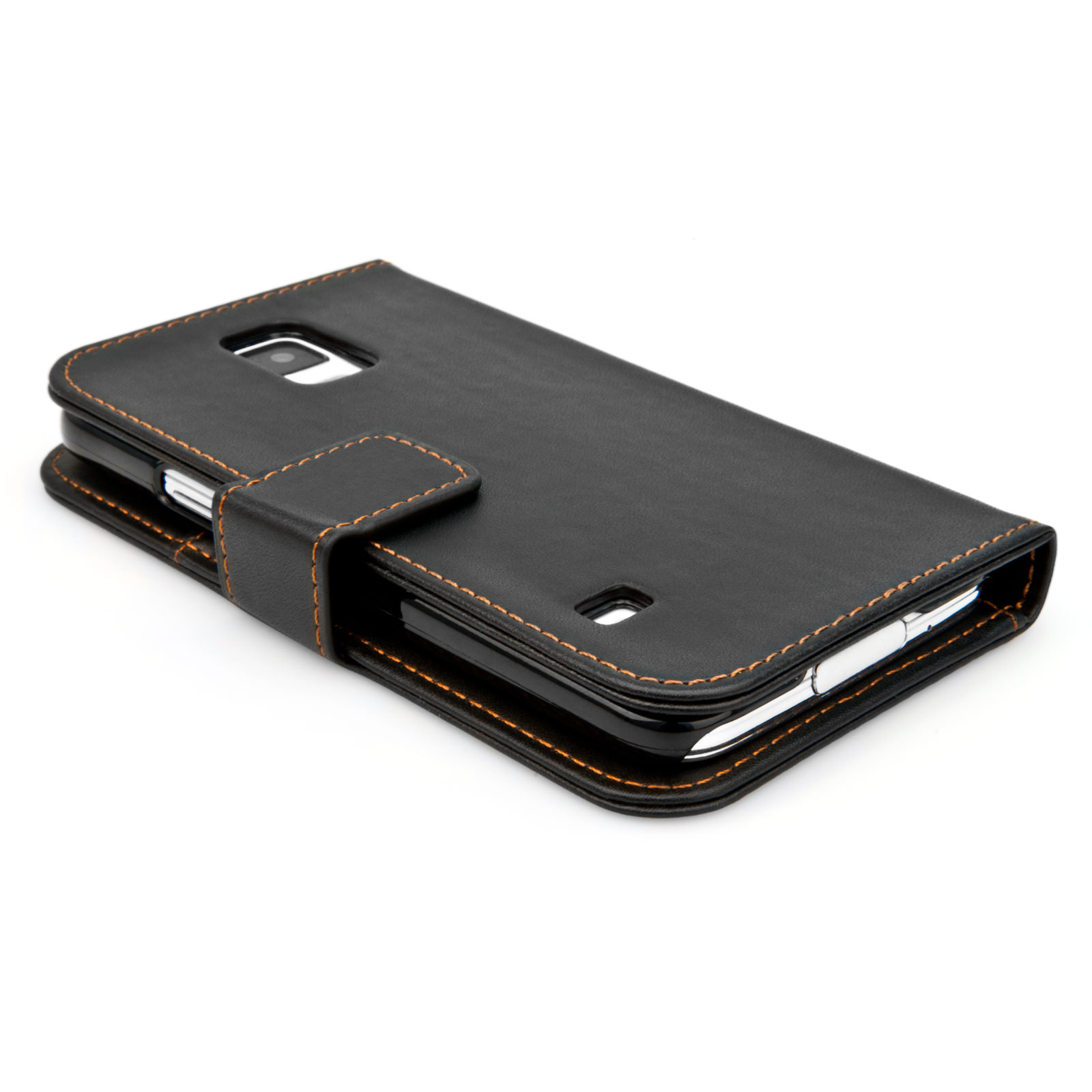 YouSave Samsung Galaxy S5 Leather-Effect Wallet Case - Black