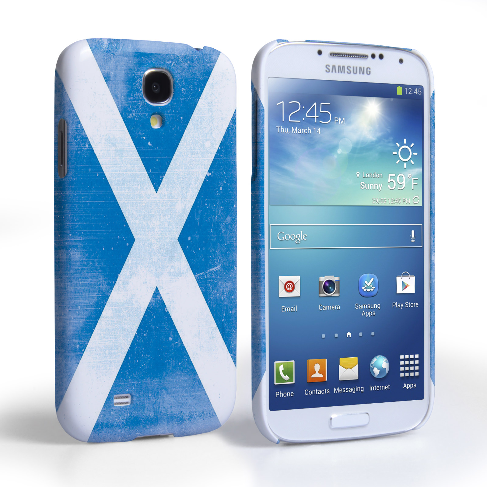 Caseflex Samsung Galaxy S4 Retro Scotland Flag Case
