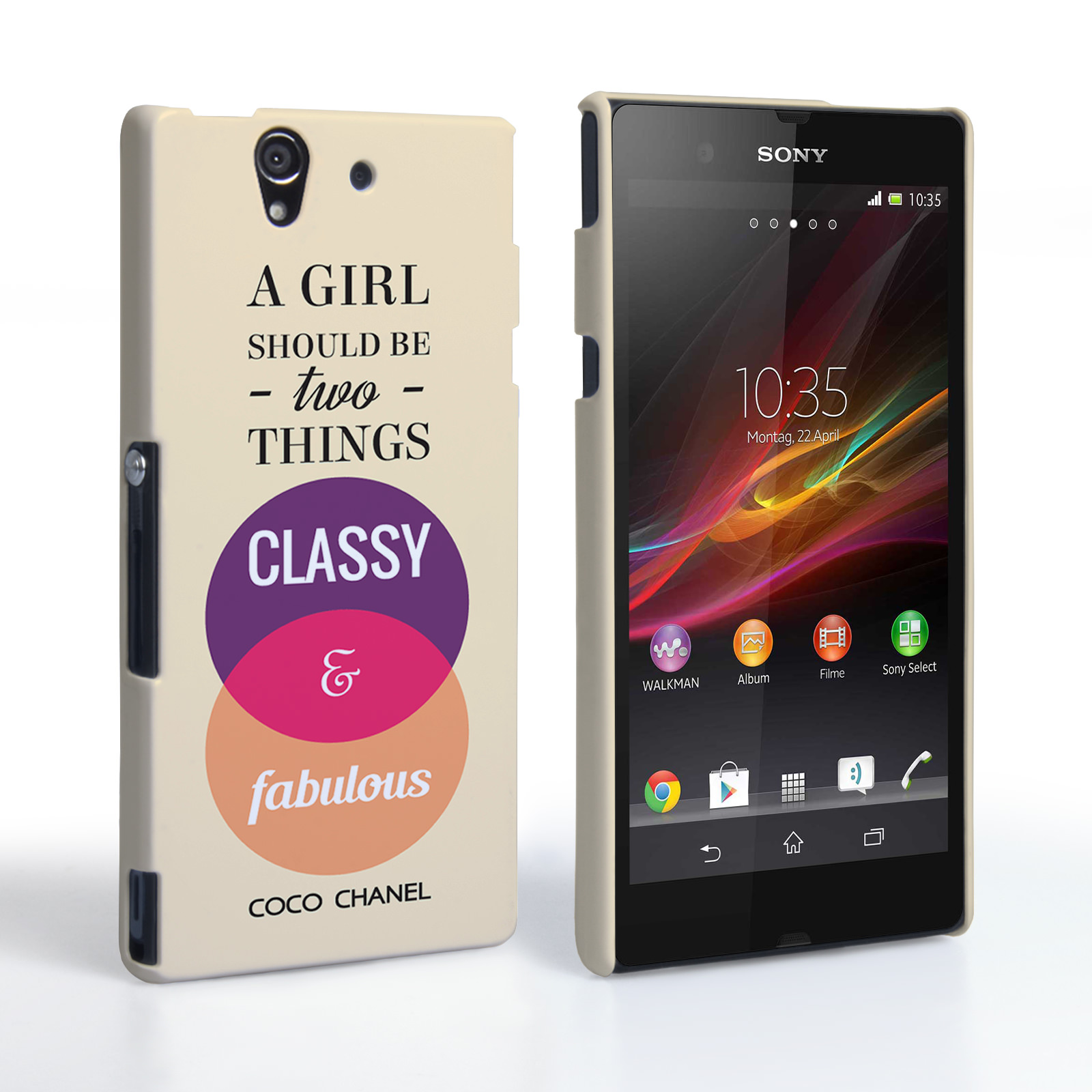 Caseflex Sony Xperia Z Chanel 'Classy and Fabulous' Quote Case