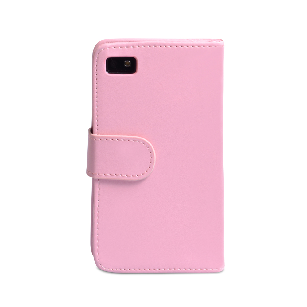 YouSave Blackberry Z10 Leather-Effect Wallet Case - Baby Pink
