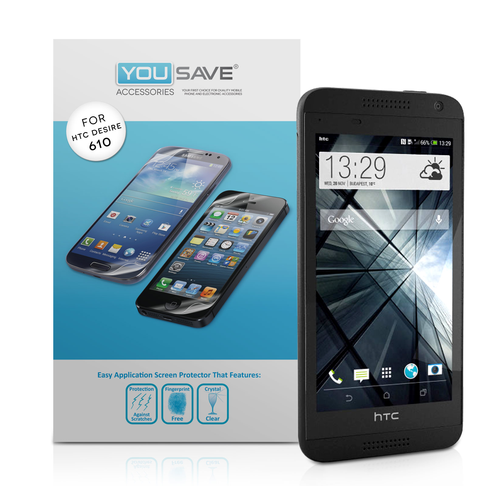 YouSave Accessories HTC Desire 610 Screen Protectors x3