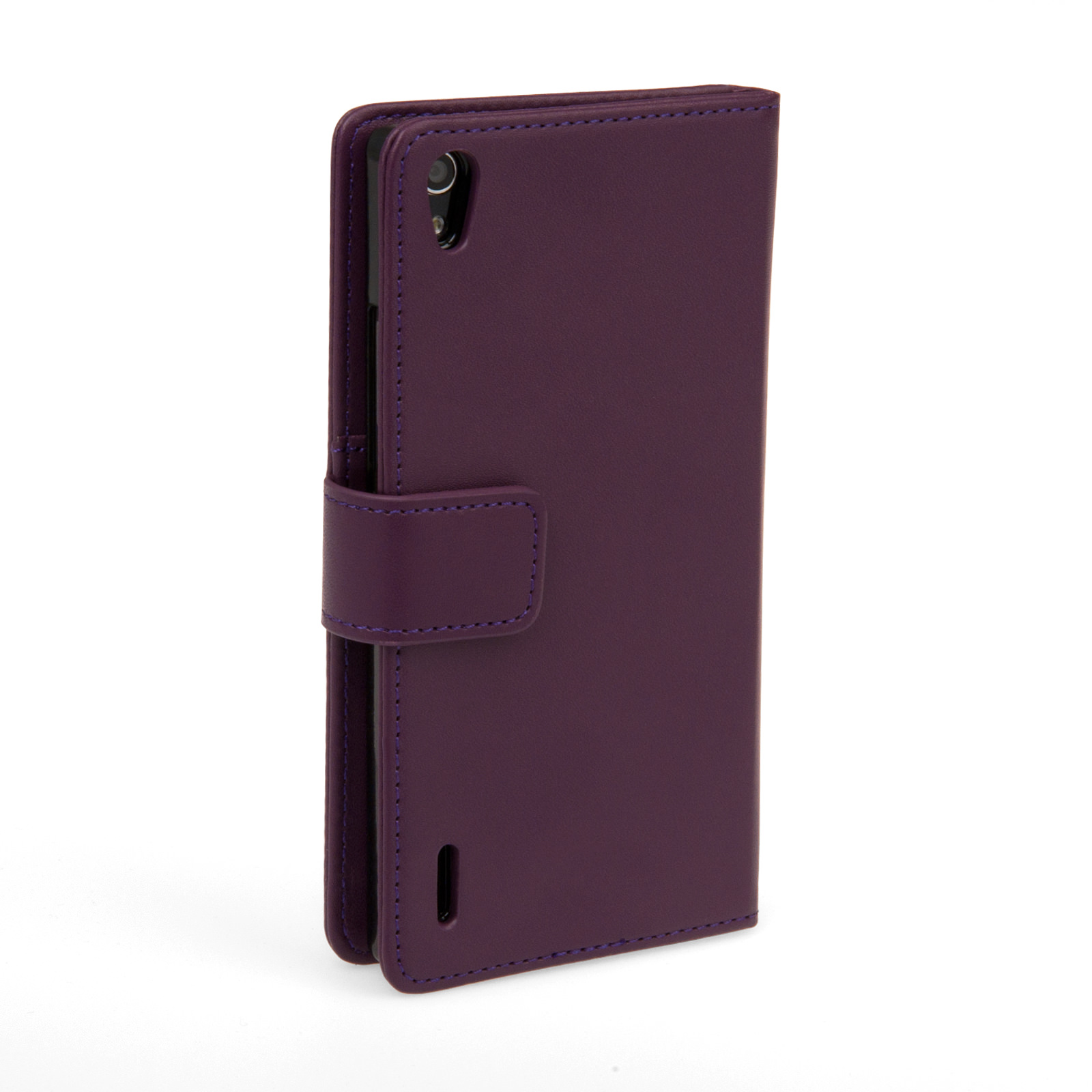 YouSave Huawei Ascend P7 Leather-Effect Wallet Case - Purple