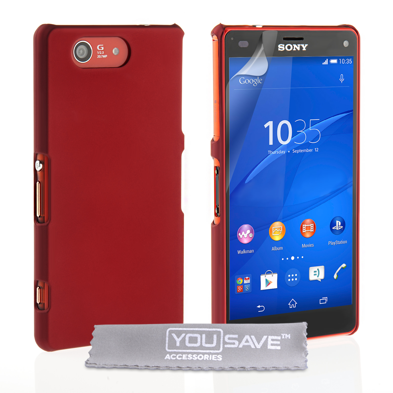 yousave accessories sony xperia z3 compact hard hybrid. Black Bedroom Furniture Sets. Home Design Ideas