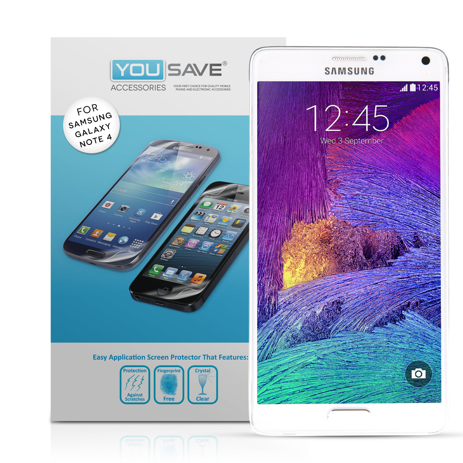 YouSave Accessories Samsung Galaxy Note 4 Screen Protectors x3