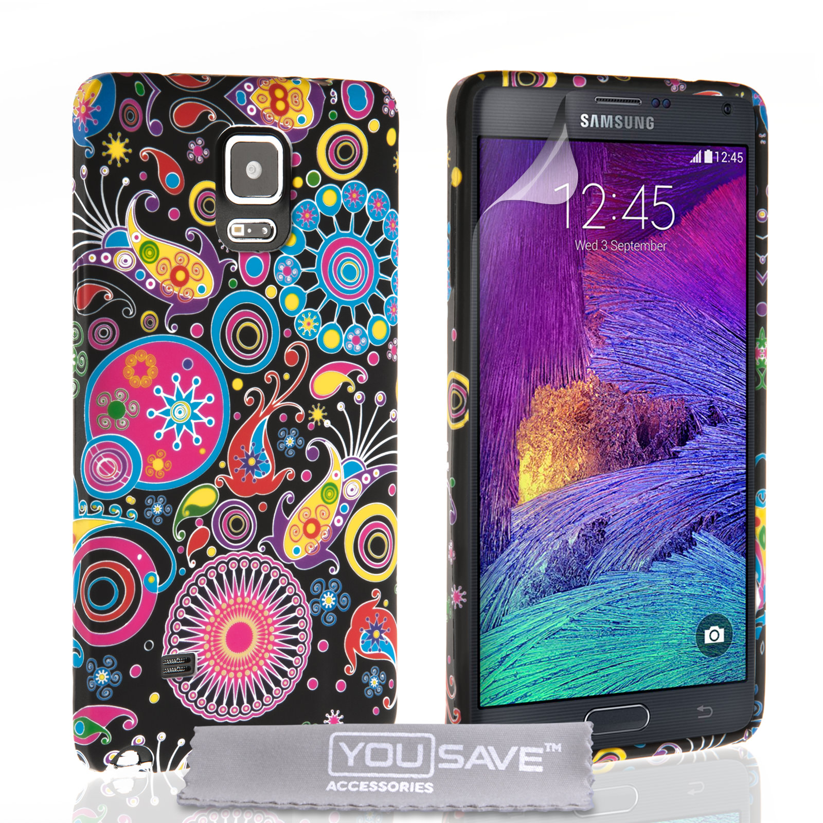 YouSave Accessories Samsung Galaxy Note 4 Jellyfish Silicone Gel Case