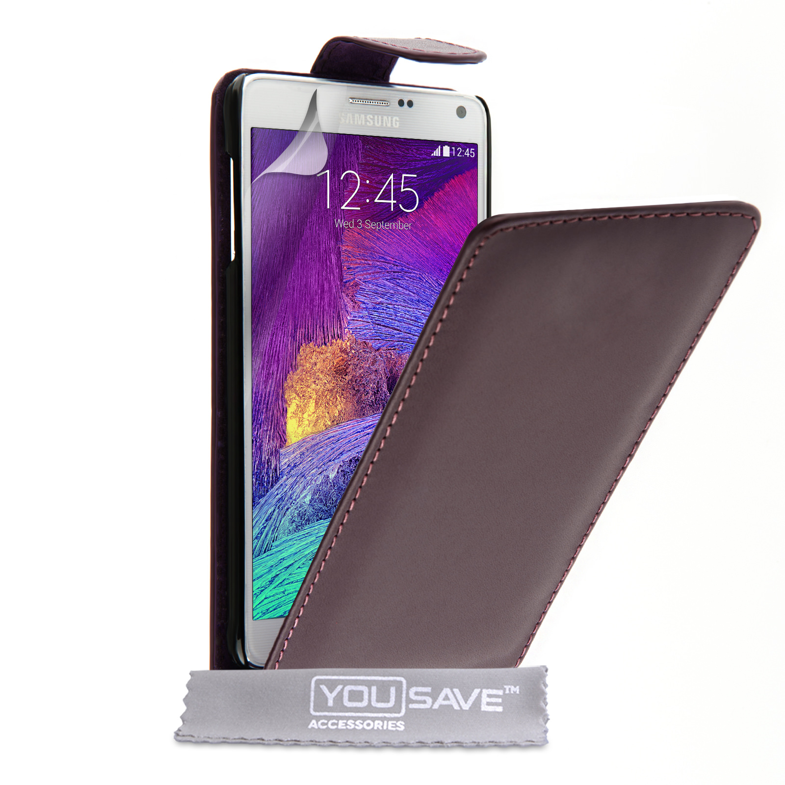YouSave Samsung Galaxy Note 4 Leather-Effect Flip Case - Purple