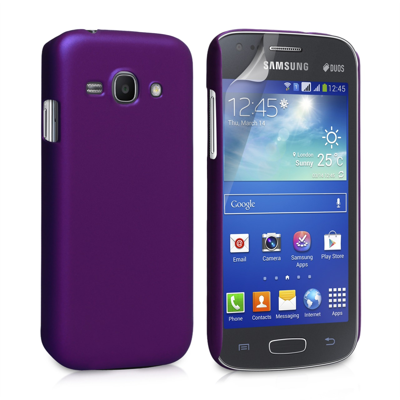 YouSave Accessories Samsung Galaxy Ace 3 Hard Hybrid Case - Purple