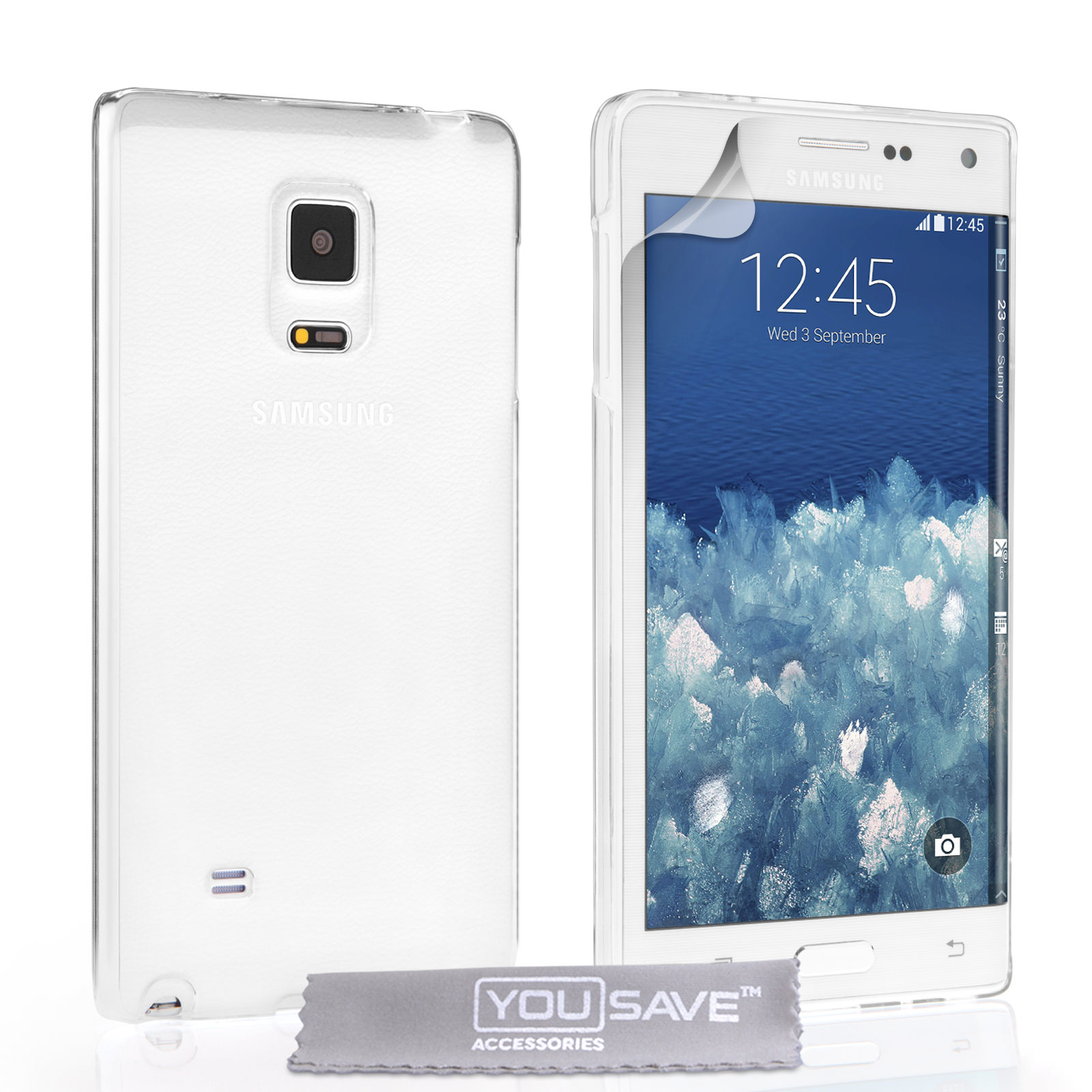 YouSave Accessories Samsung Galaxy Note Edge Hard Case - Crystal Clear