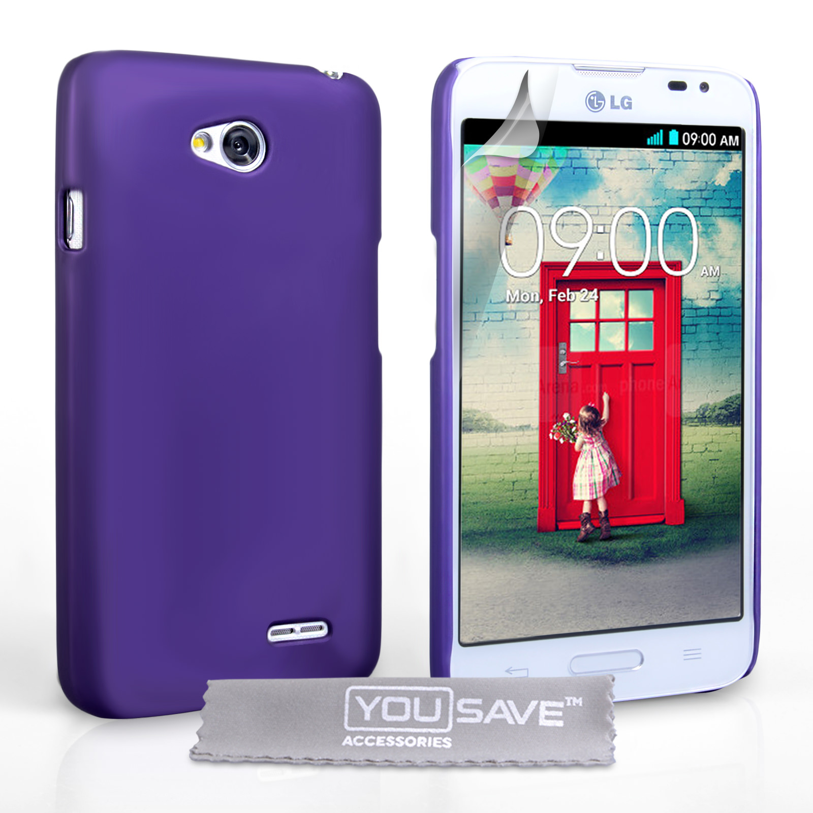 YouSave Accessories LG L90 Hard Hybrid Case - Purple