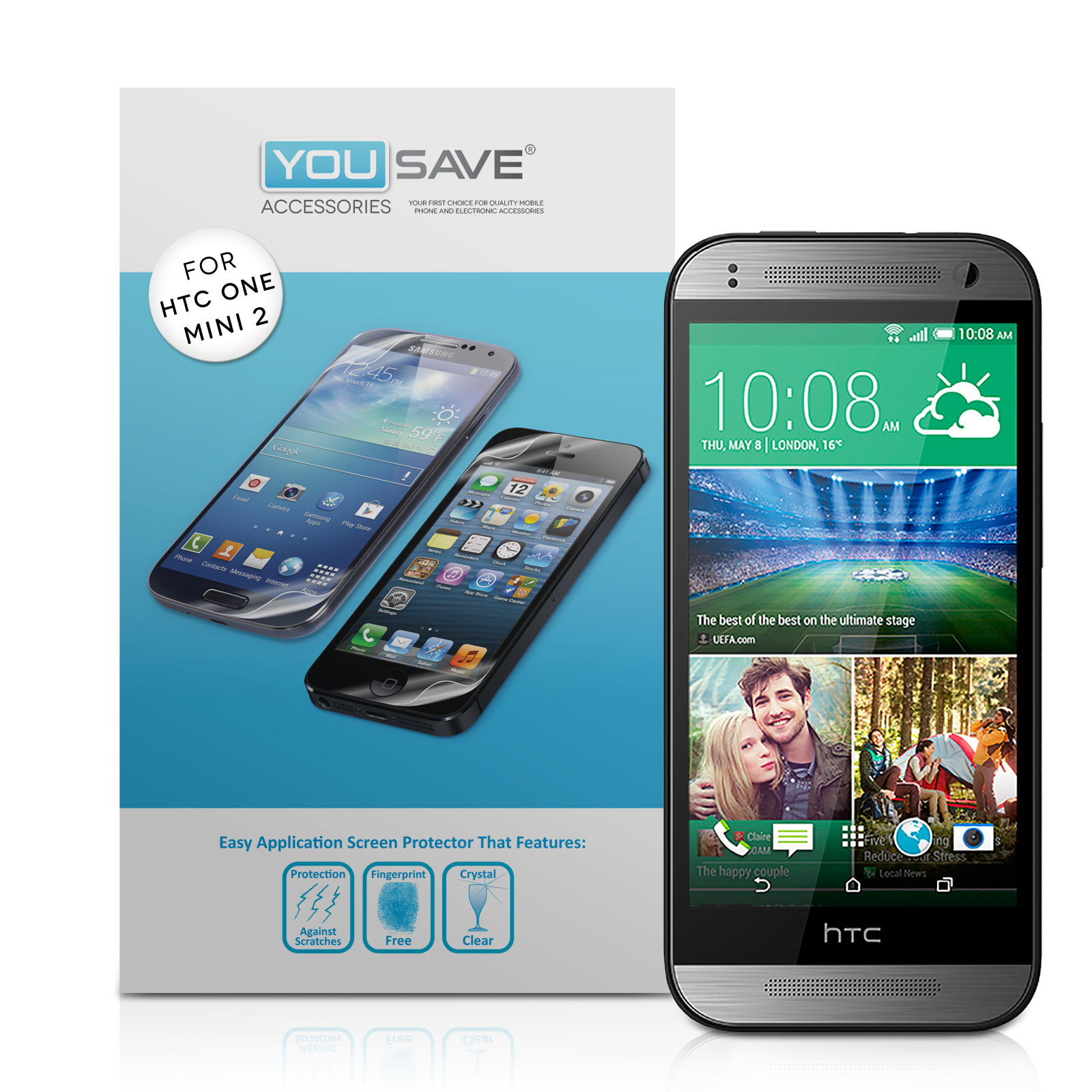 YouSave Accessories HTC One Mini 2 Screen Protectors x3