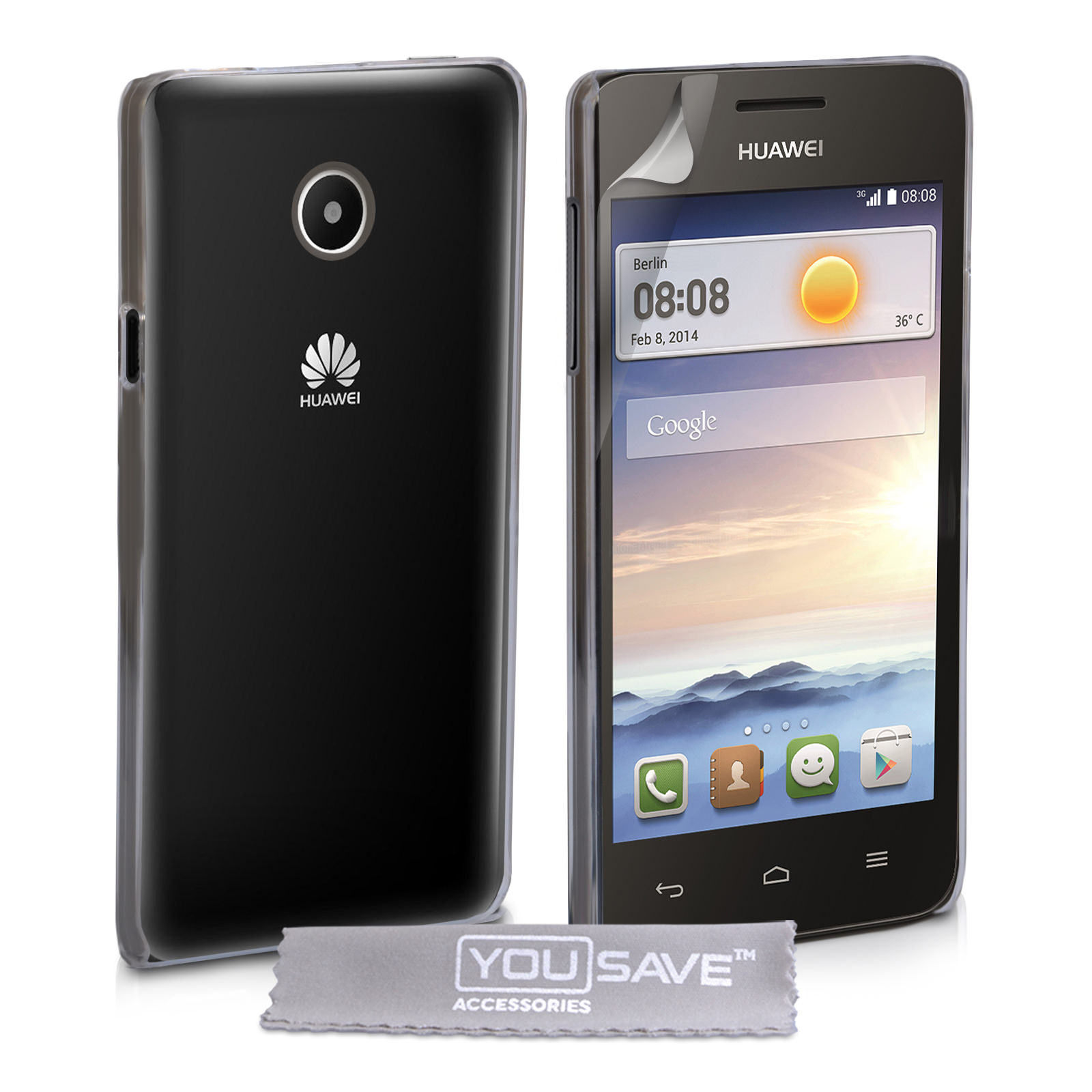 YouSave Accessories Huawei Ascend Y330 Hard Case - Crystal Clear