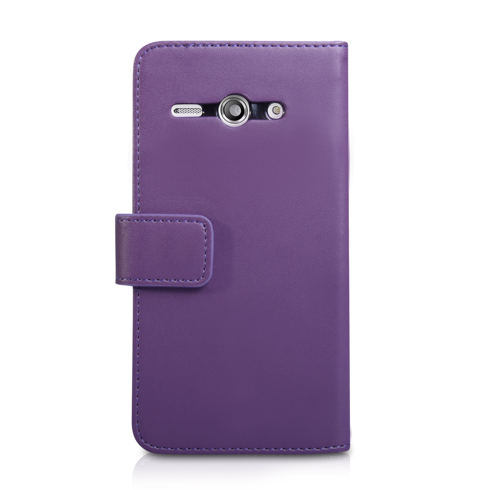 YouSave Huawei Ascend Y530 Leather-Effect Wallet Case - Purple