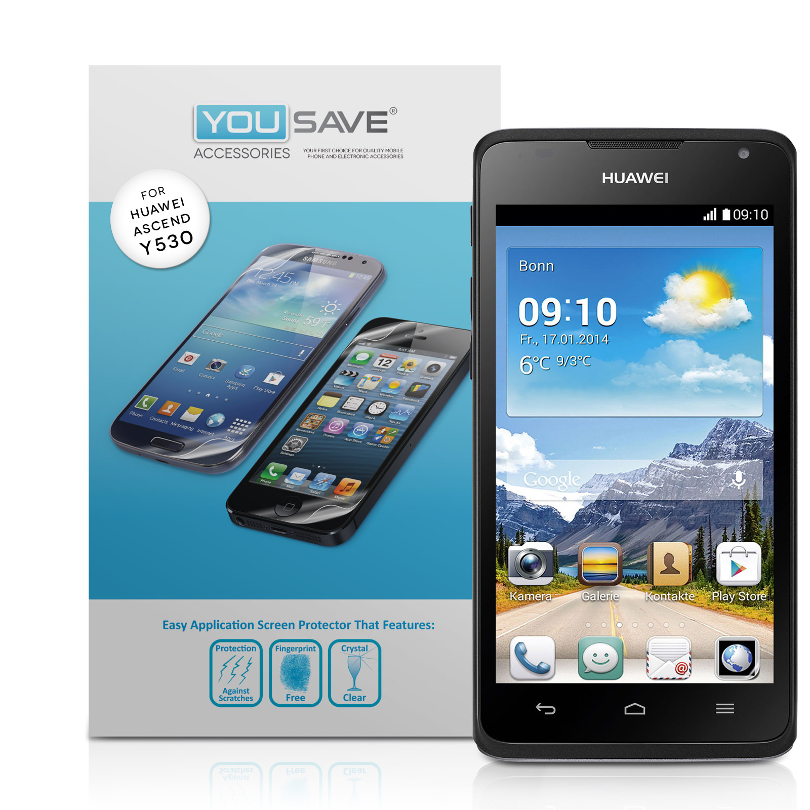 YouSave Accessories Huawei Ascend Y530 Screen Protectors x3