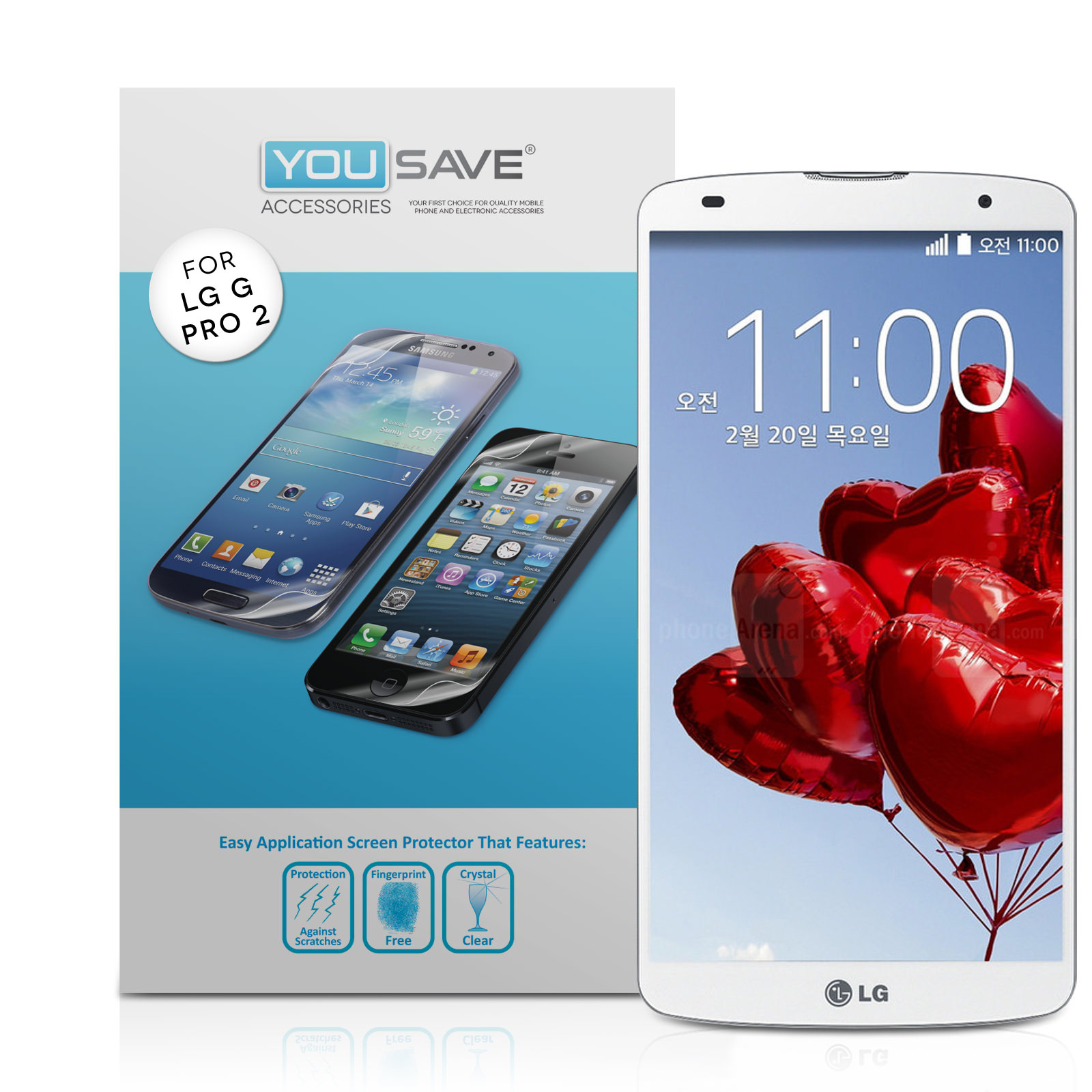 YouSave Accessories LG G Pro 2 Screen Protectors x3