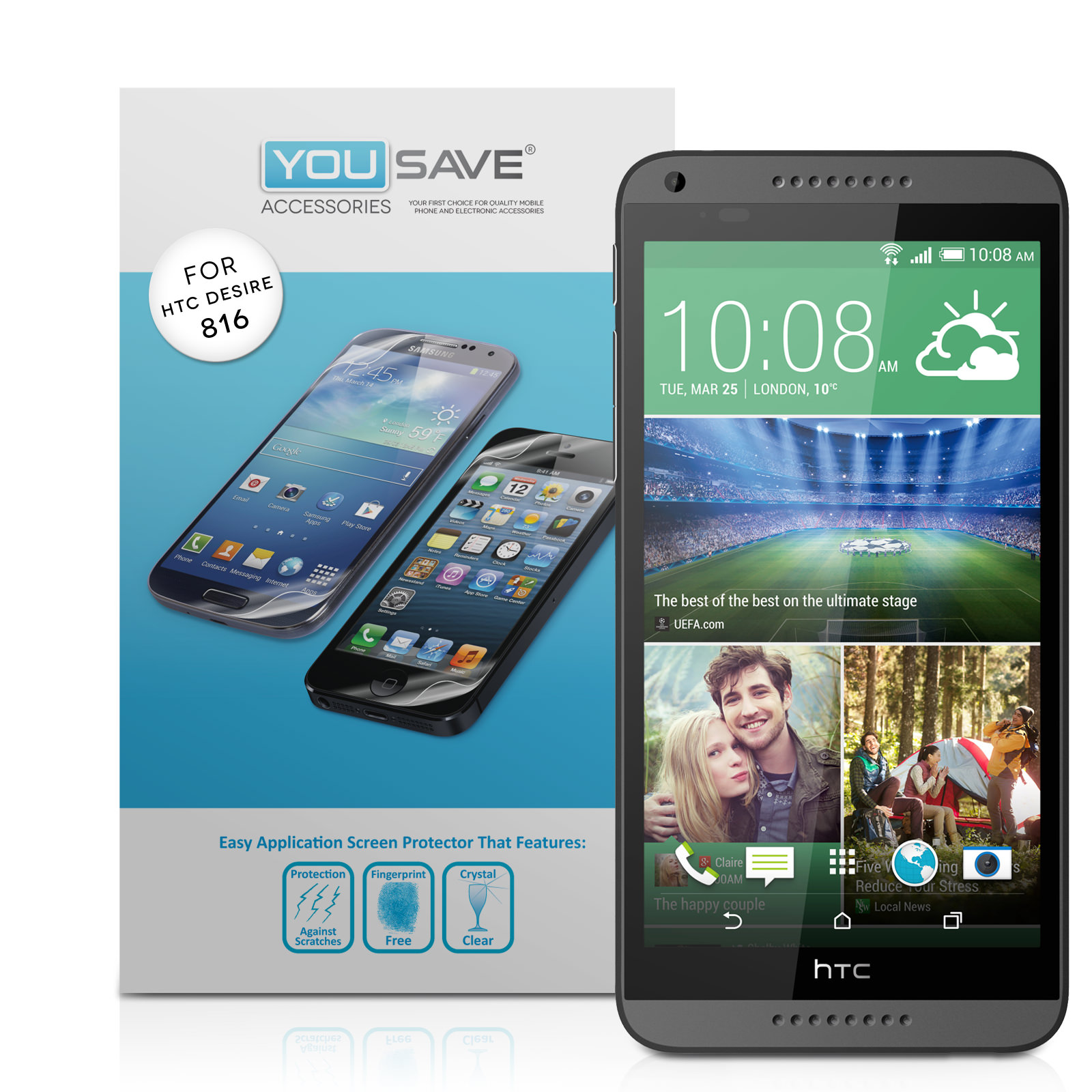 YouSave Accessories HTC Desire 816 Screen Protectors x5