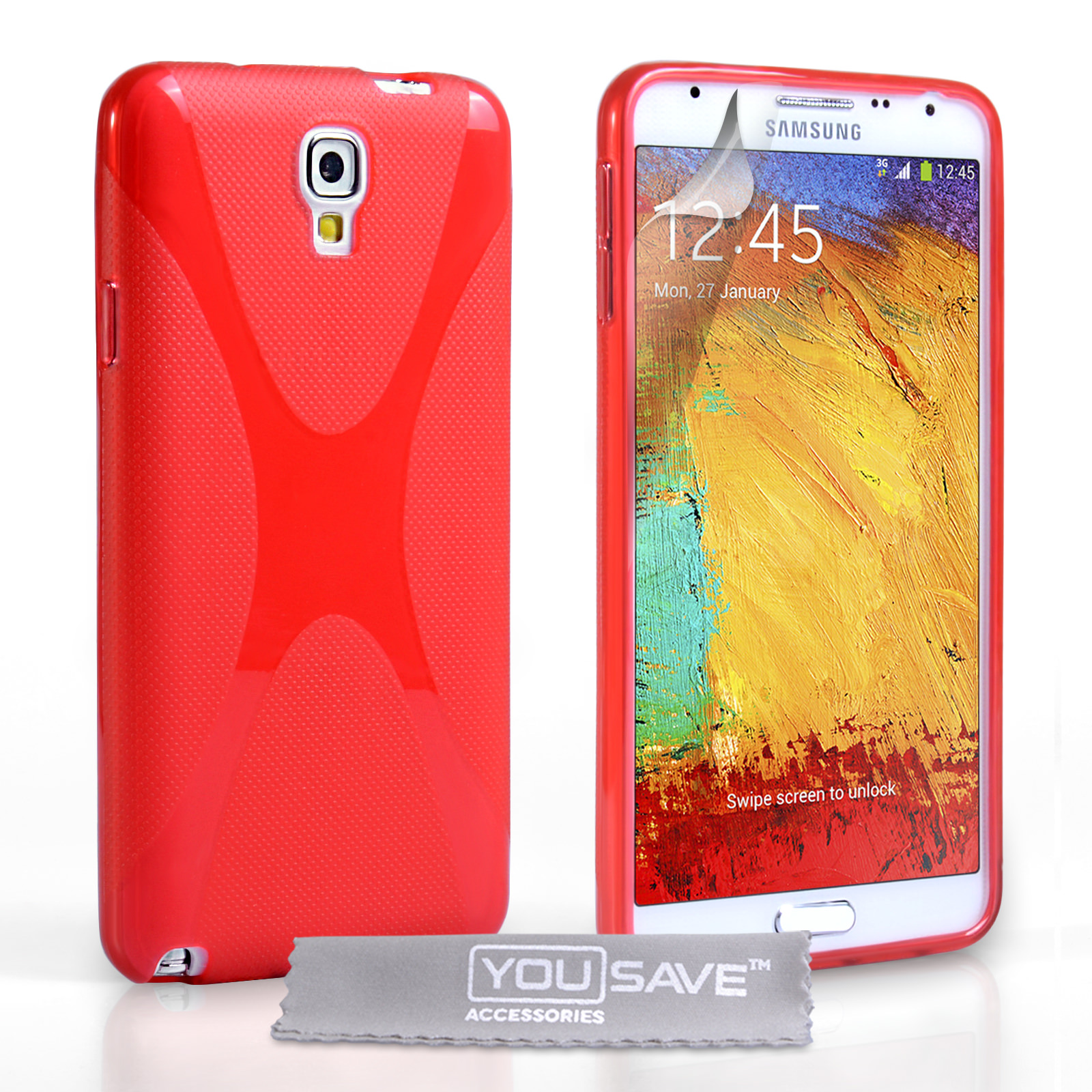 YouSave Samsung Galaxy Note 3 Neo Silicone Gel X-Line Case - Red