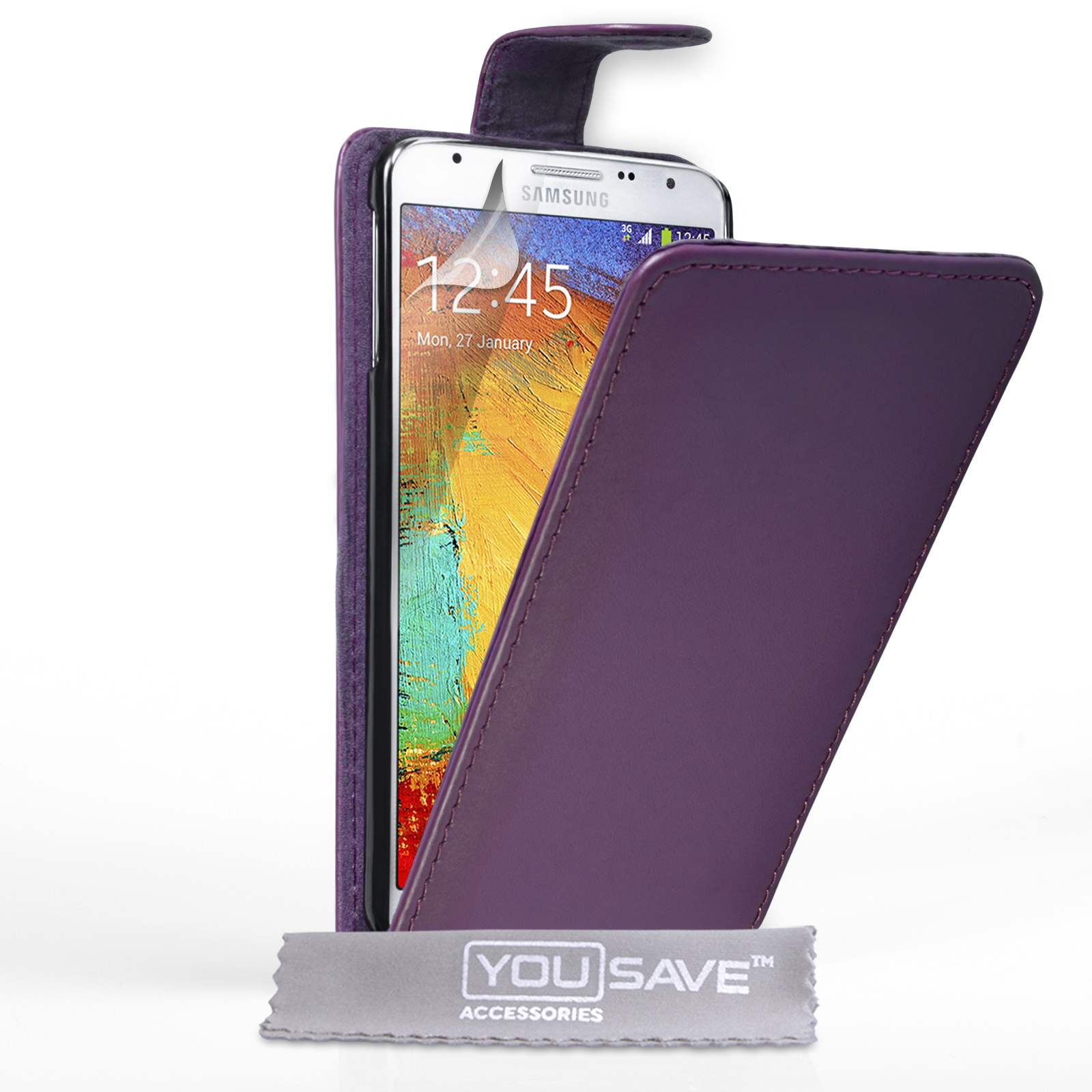 YouSave Samsung Galaxy Note 3 Neo Leather-Effect Flip Case - Purple
