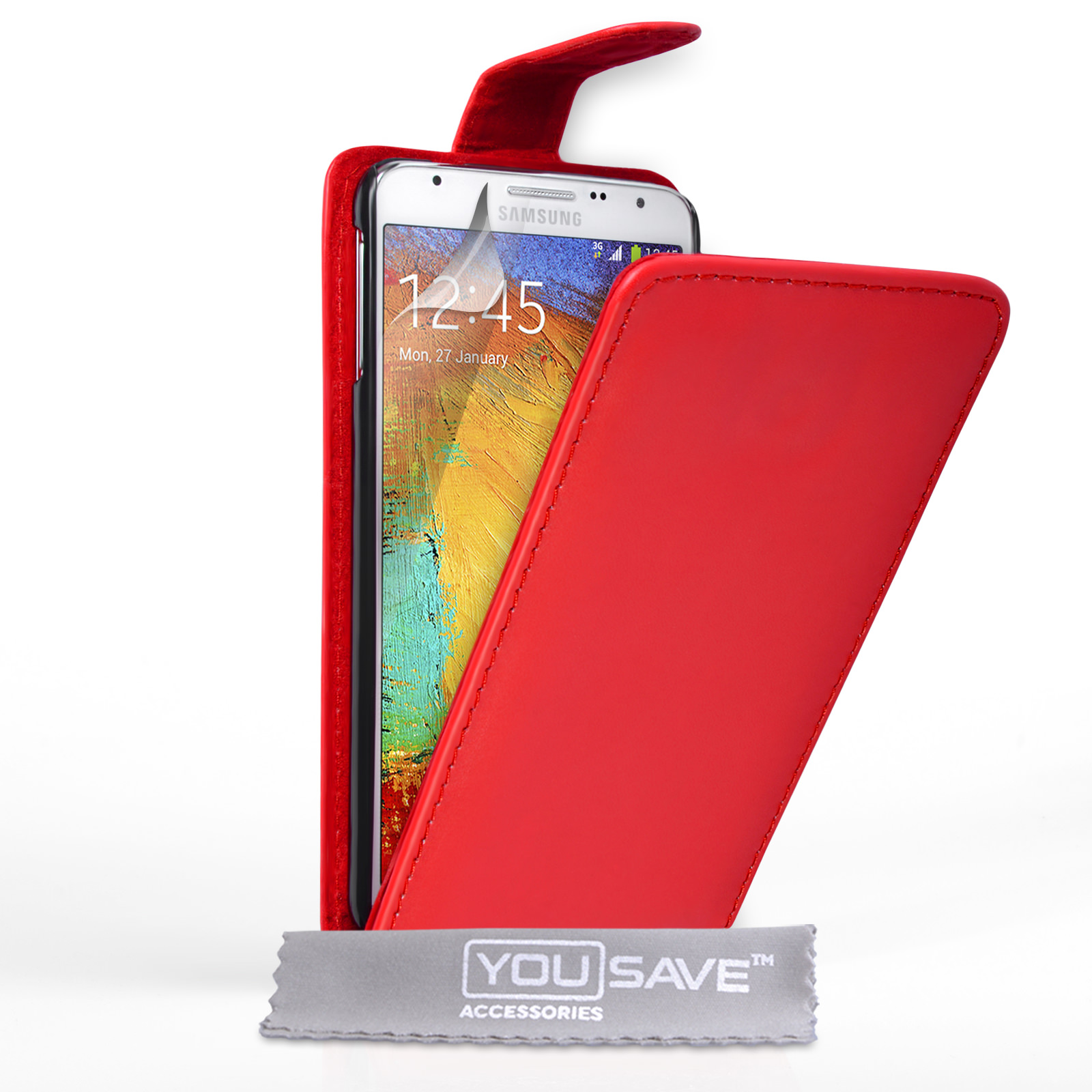 YouSave Samsung Galaxy Note 3 Neo Leather-Effect Flip Case - Red