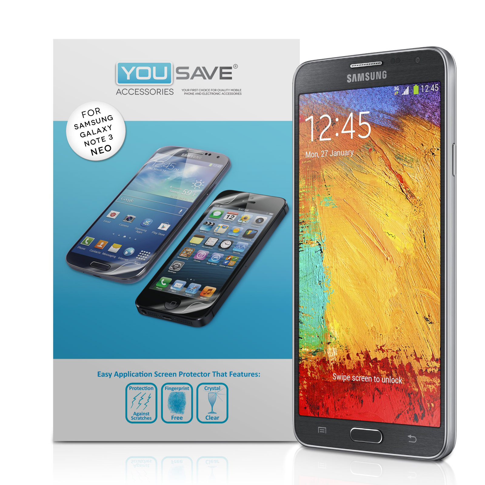YouSave Accessories Samsung Galaxy Note 3 Neo Screen Protectors x3