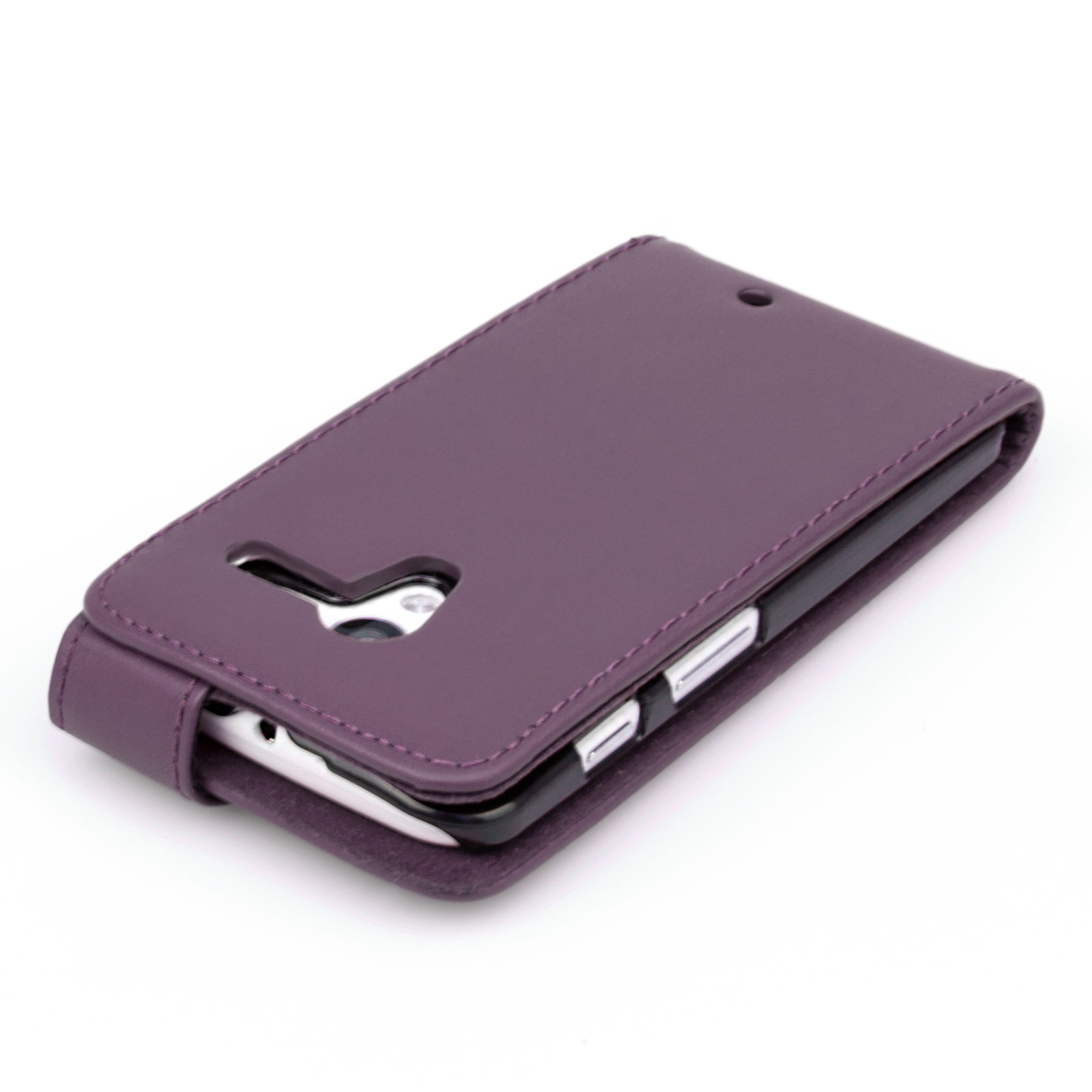 YouSave Accessories Motorola Moto X Leather-Effect Flip Case - Purple
