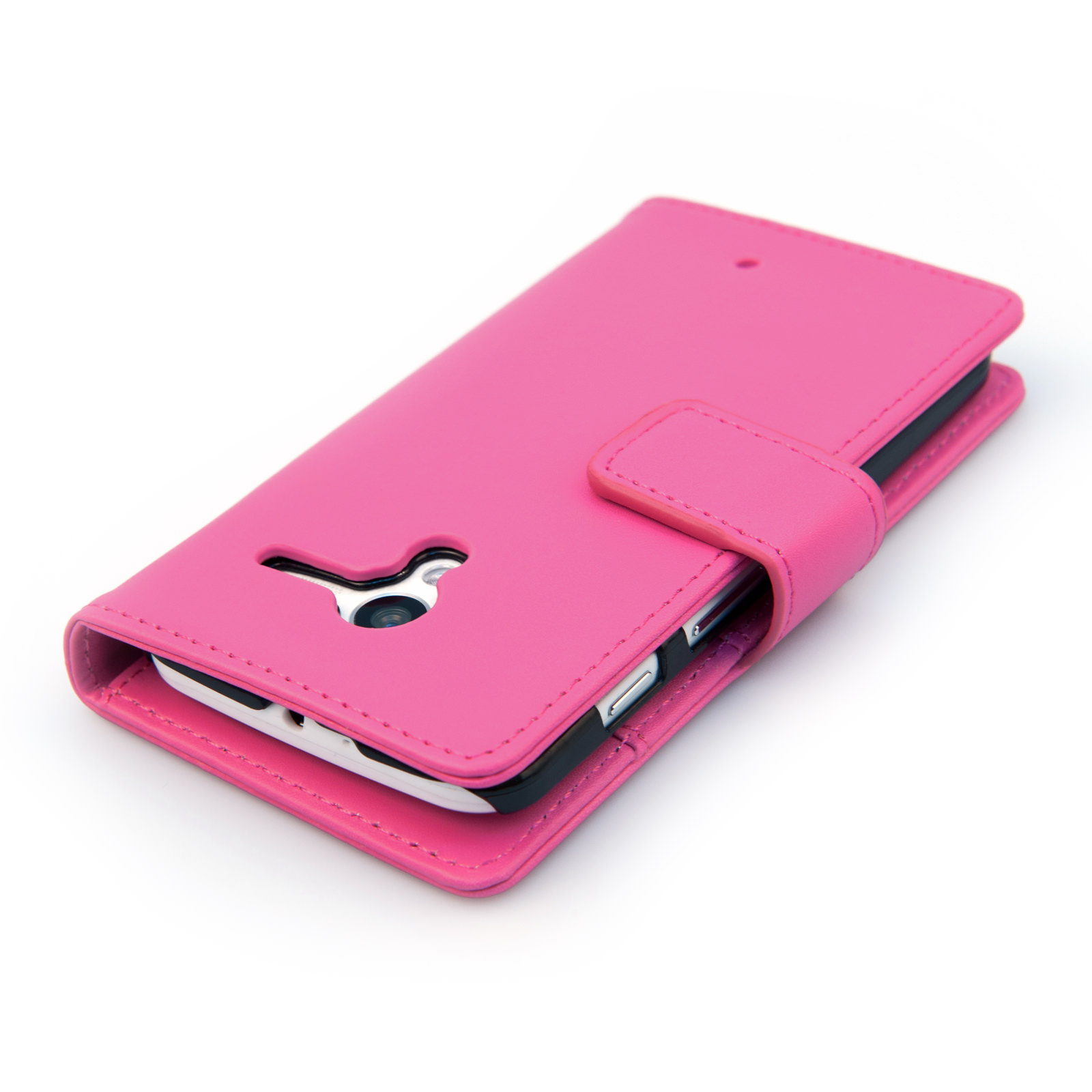 YouSave Motorola Moto X Leather-Effect Wallet Case - Hot Pink