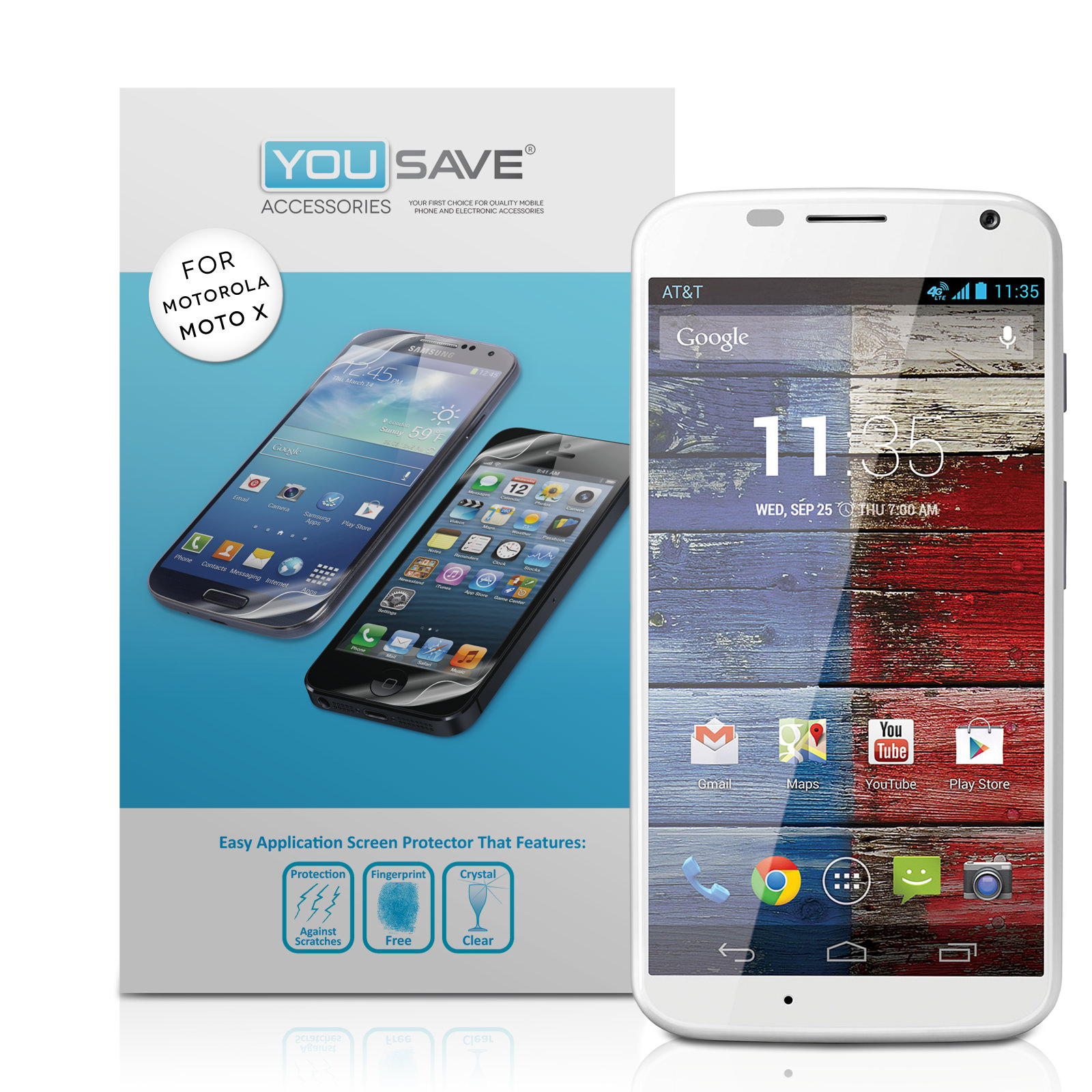 YouSave Accessories Motorola Moto X Screen Protectors x3