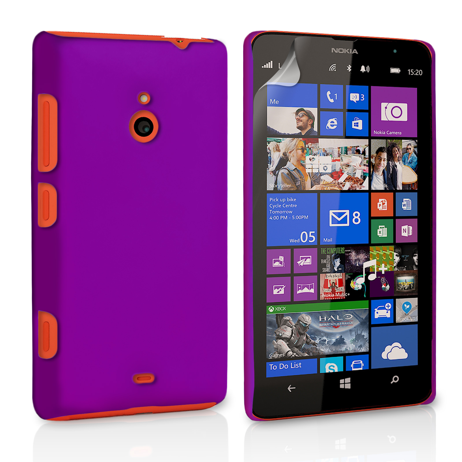 YouSave Accessories Nokia Lumia 1320 Hard Hybrid Case - Purple