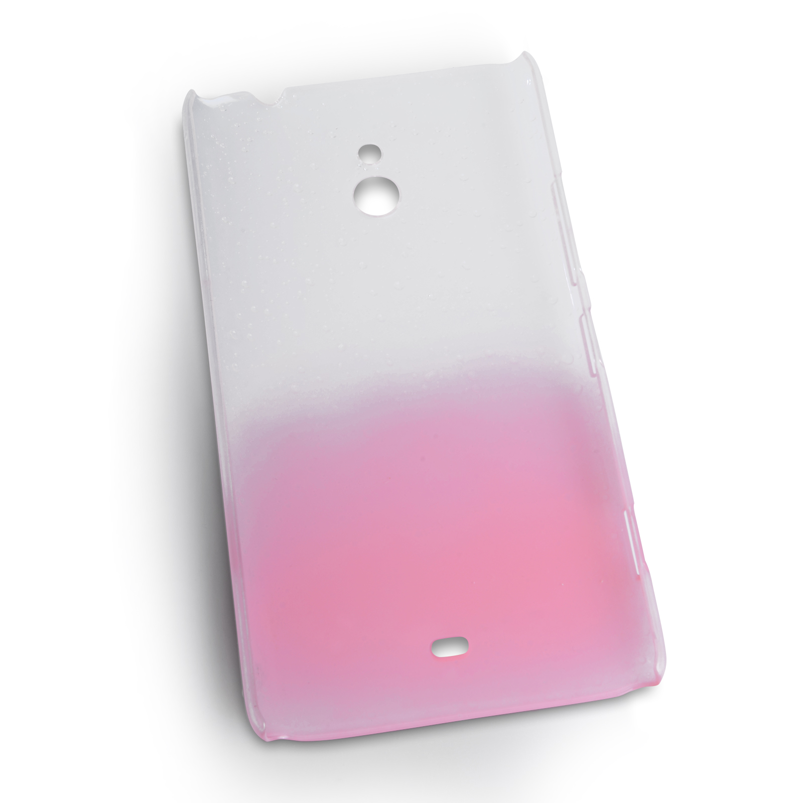 YouSave Nokia Lumia 1320 Raindrop Hard Case - Baby Pink-Clear