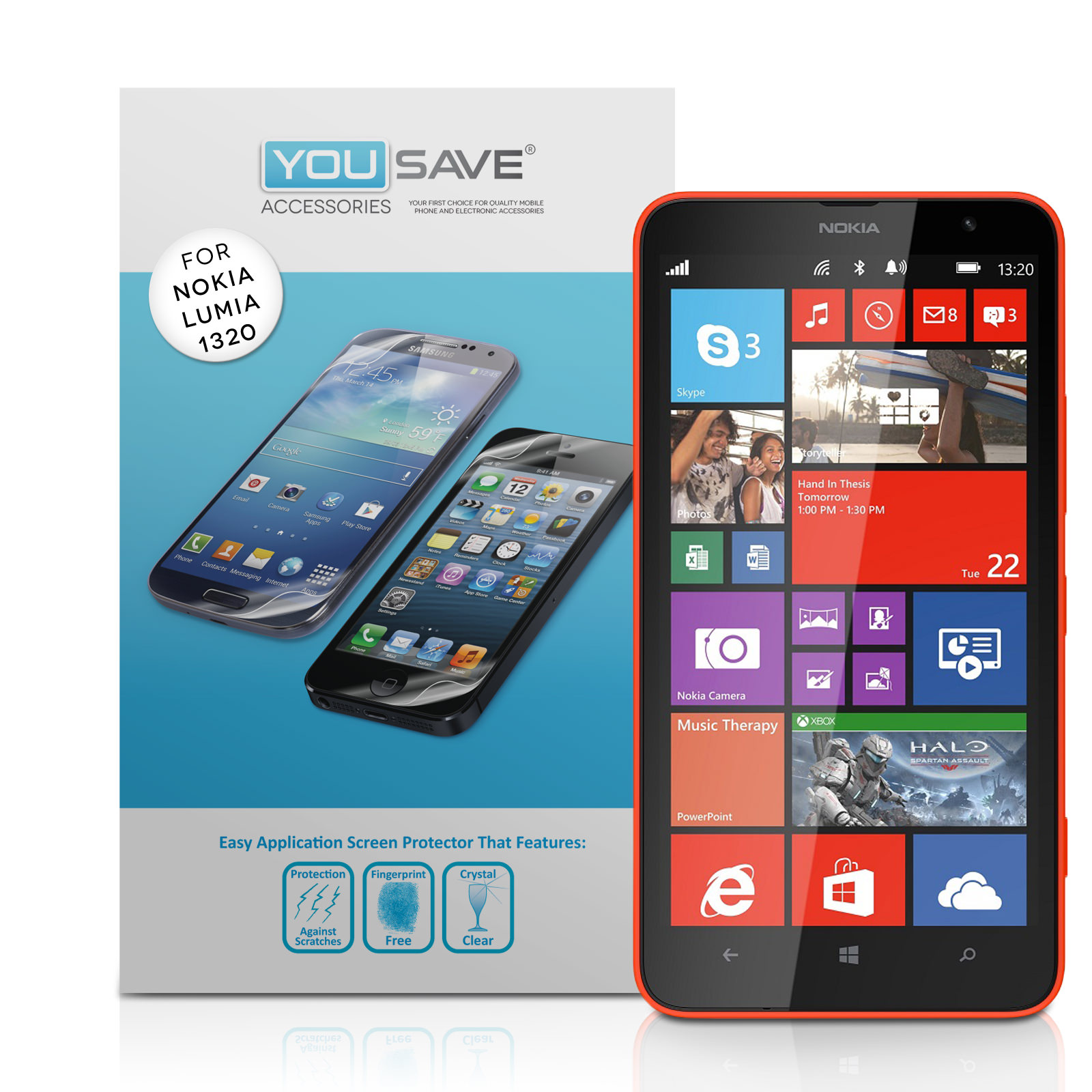 YouSave Accessories Nokia Lumia 1320 Screen Protectors x5