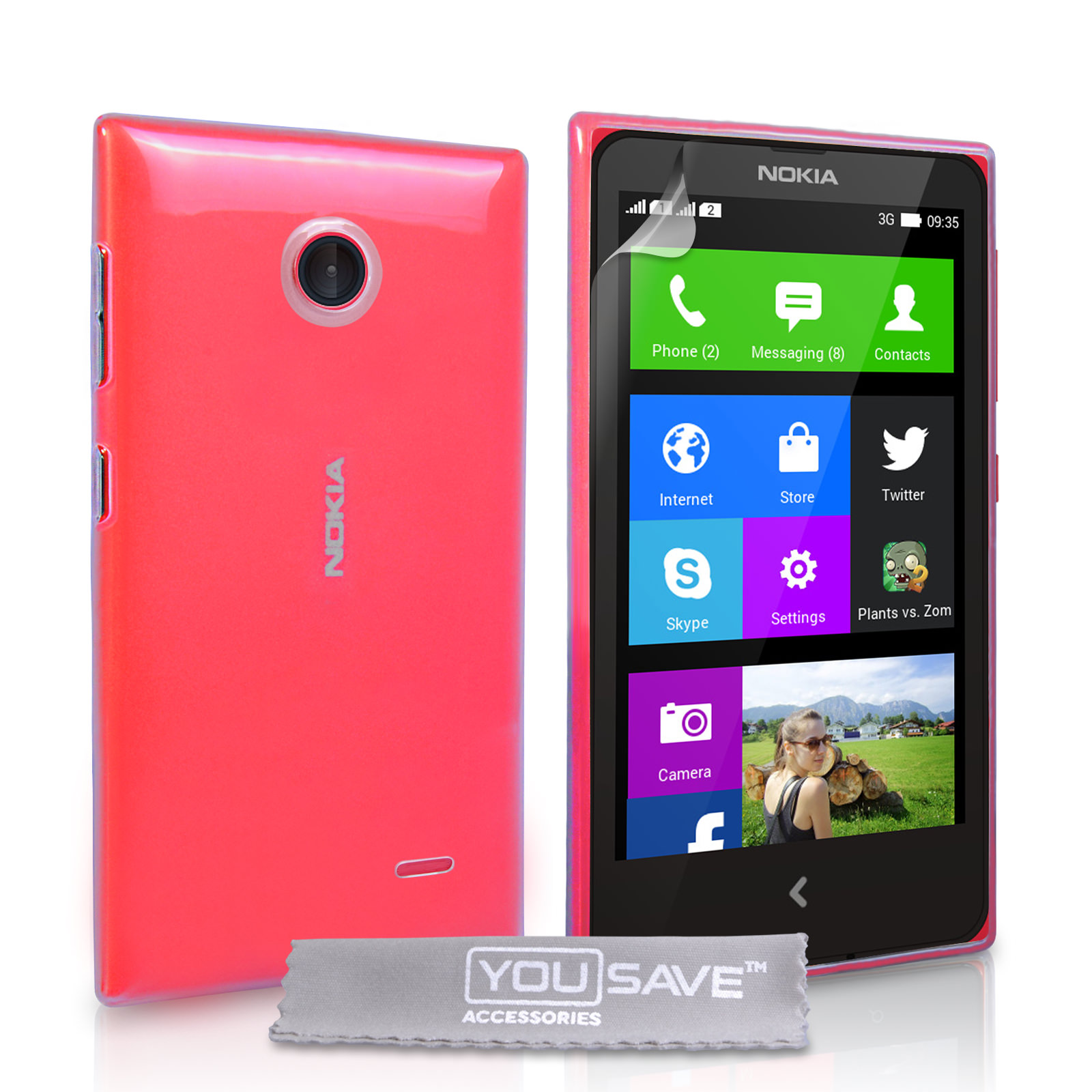 YouSave Accessories Nokia X Hard Case - Crystal Clear
