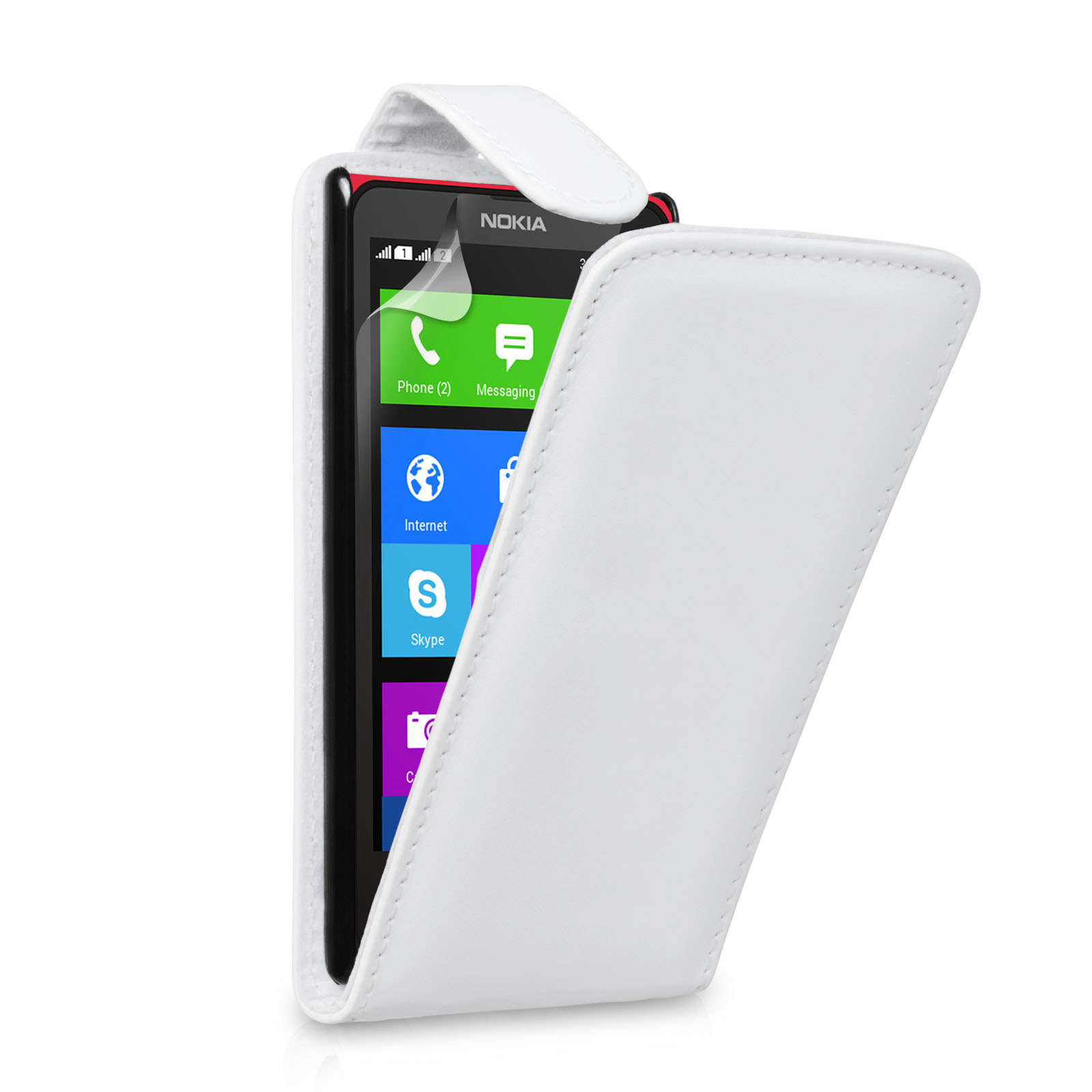 YouSave Accessories Nokia X Leather-Effect Flip Case - White