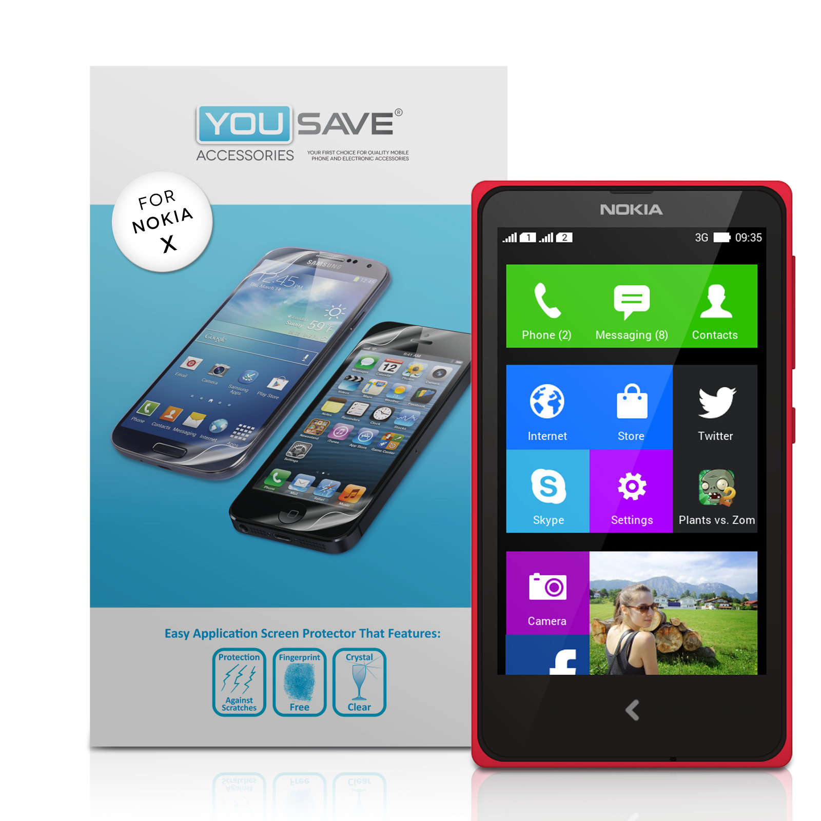 YouSave Accessories Nokia X Screen Protectors x3