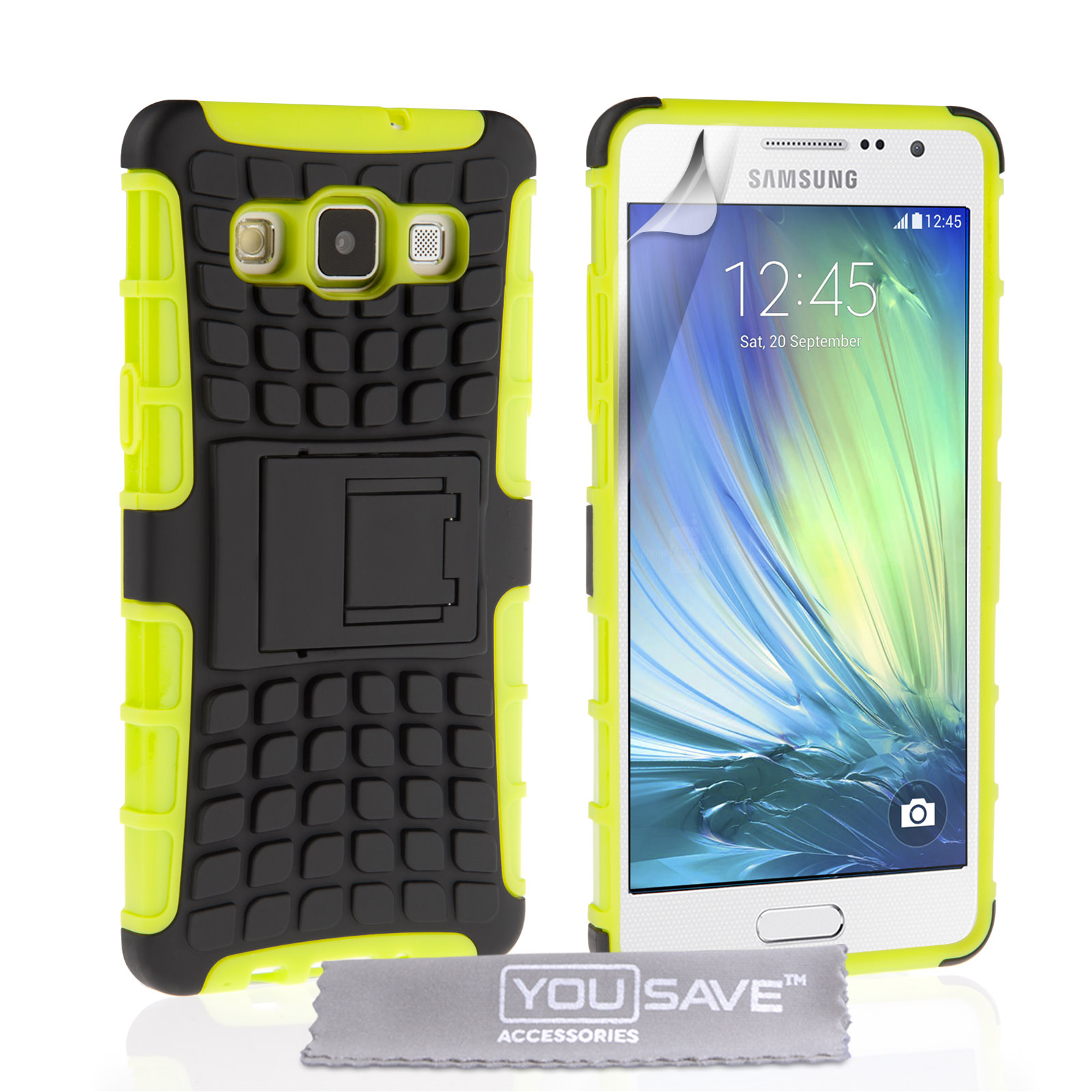 YouSave Samsung Galaxy A7 Stand Combo Case - Green / Black