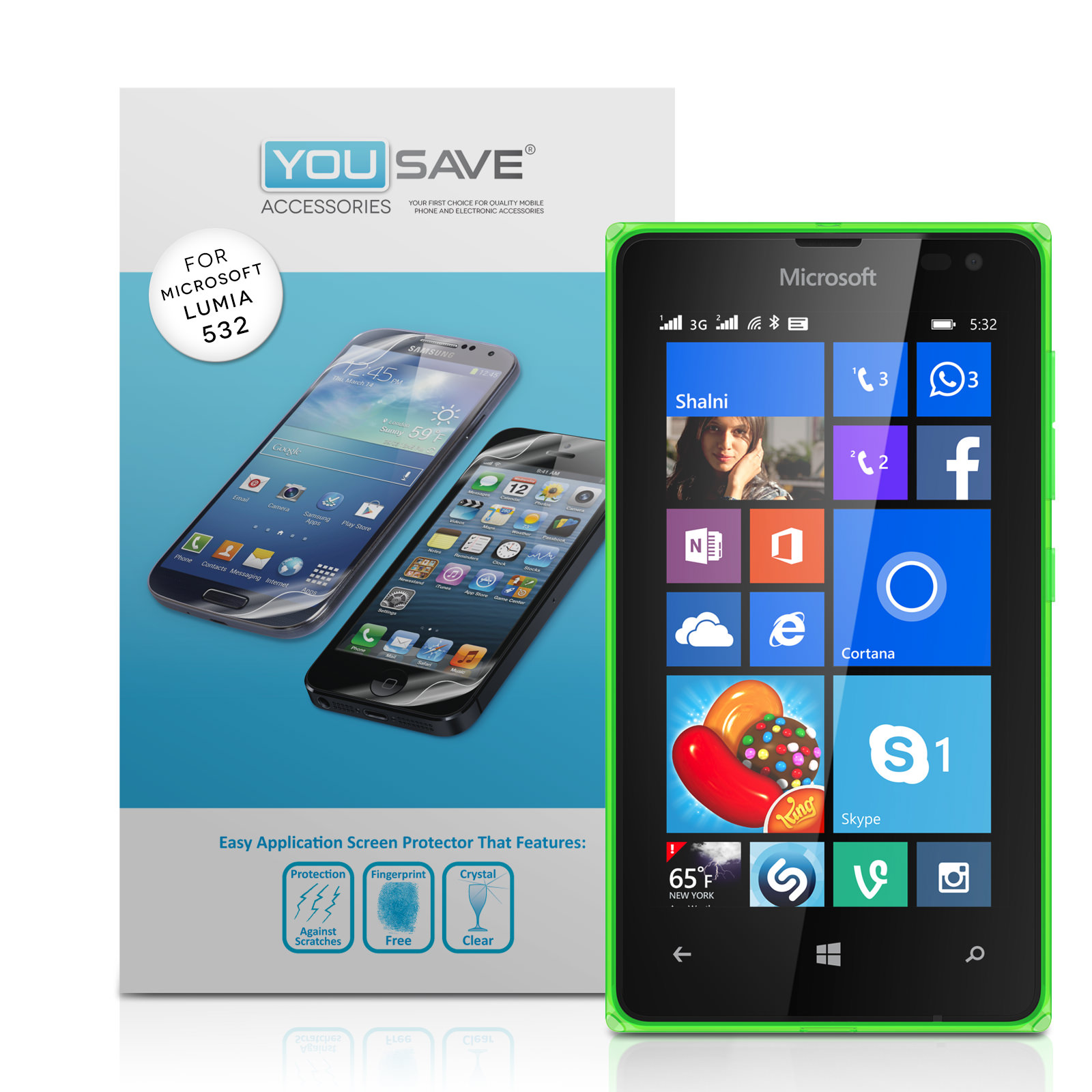 YouSave Accessories Microsoft Lumia 532 Screen Protectors x3