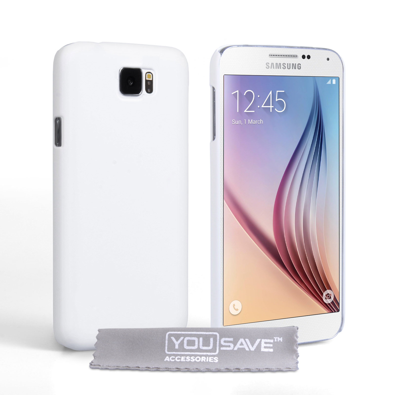 YouSave Accessories Samsung Galaxy S6 Hard Hybrid Case - White