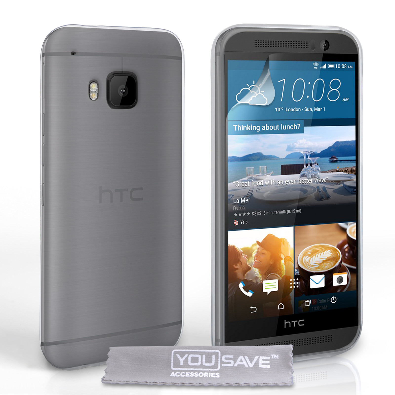 YouSave HTC M9 Silicone Gel Case - Clear